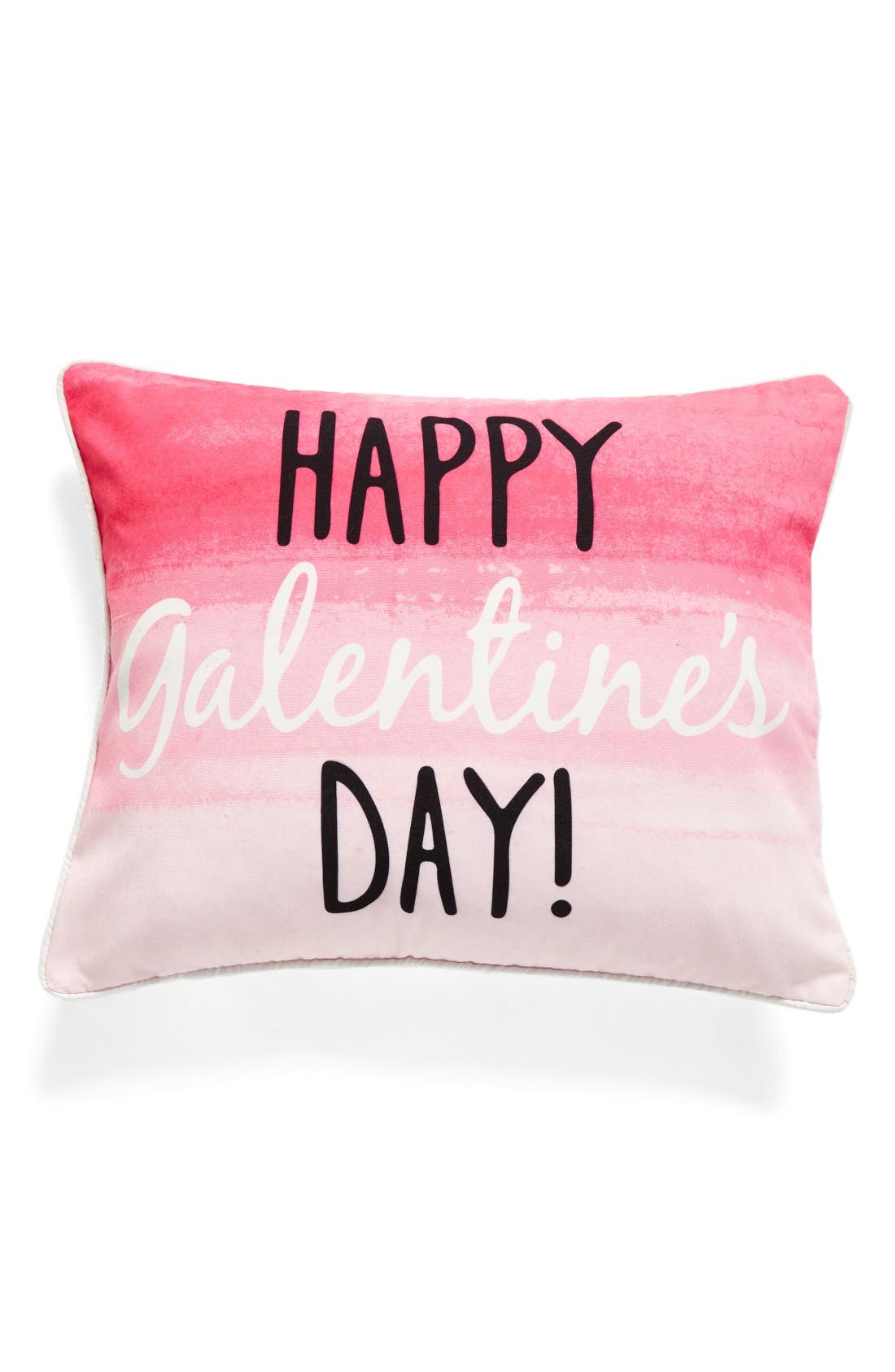 Happy Galentine's Day Pillow,                             Main thumbnail 1, color,                             Pink