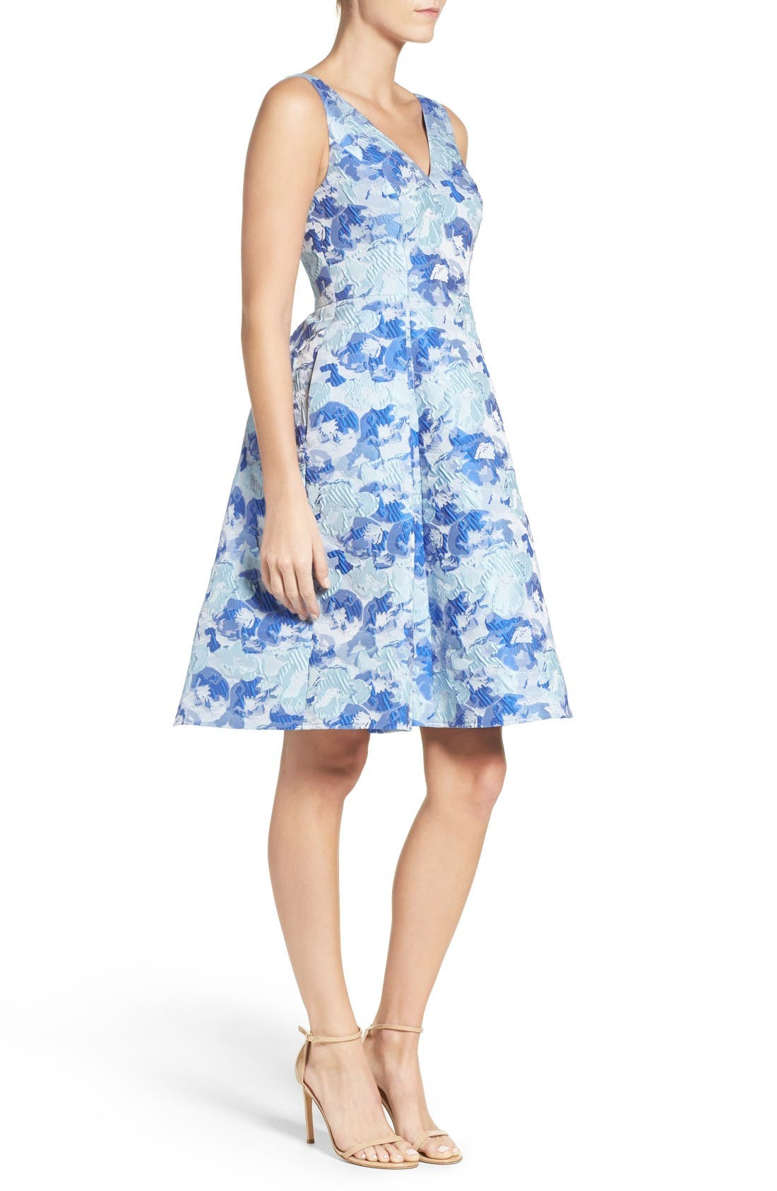 Alternate Image 3  - Adrianna Papell Floral Fit & Flare Dress