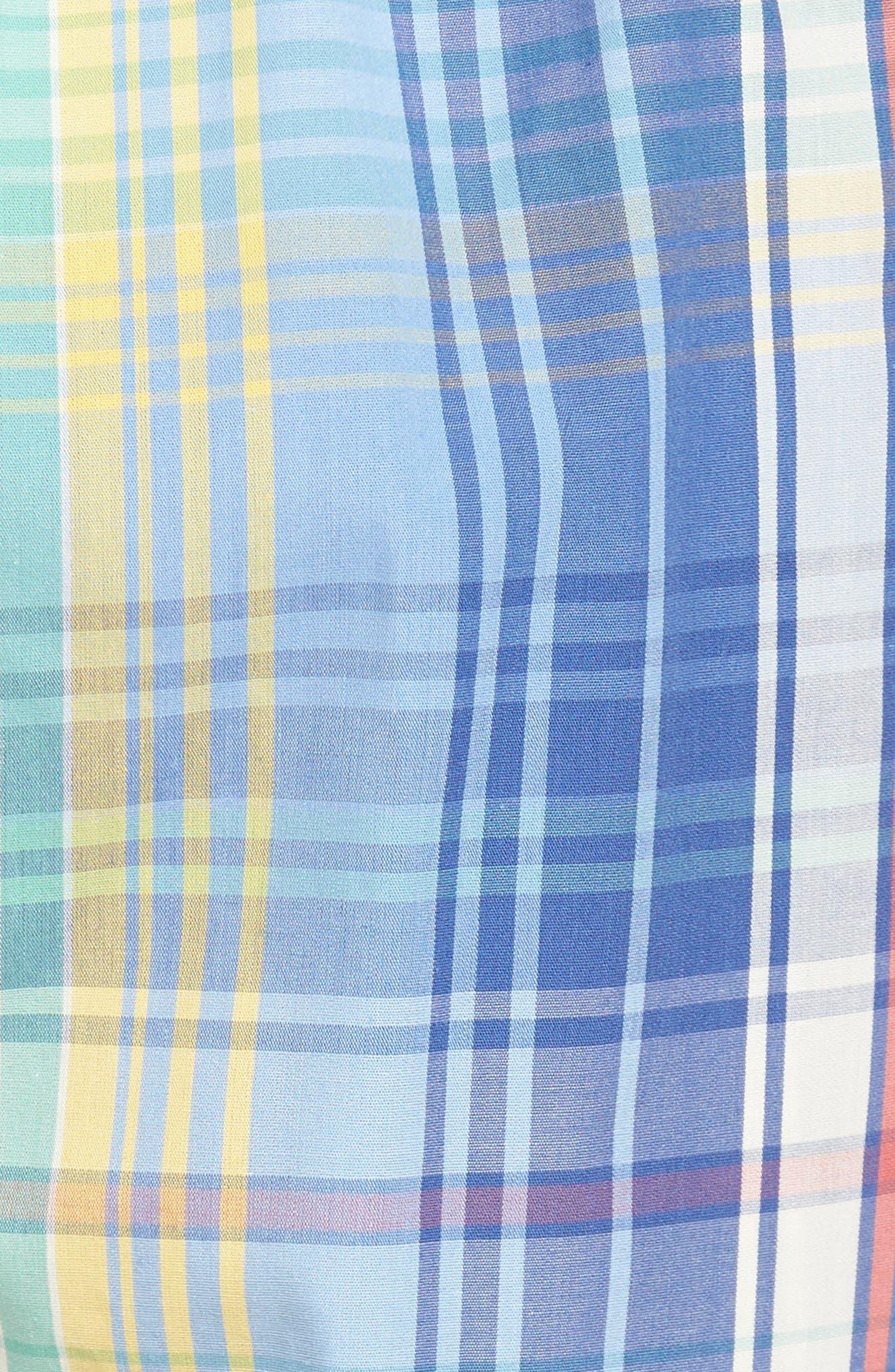 Cotton Pajama Shorts,                             Alternate thumbnail 5, color,                             Avery Plaid