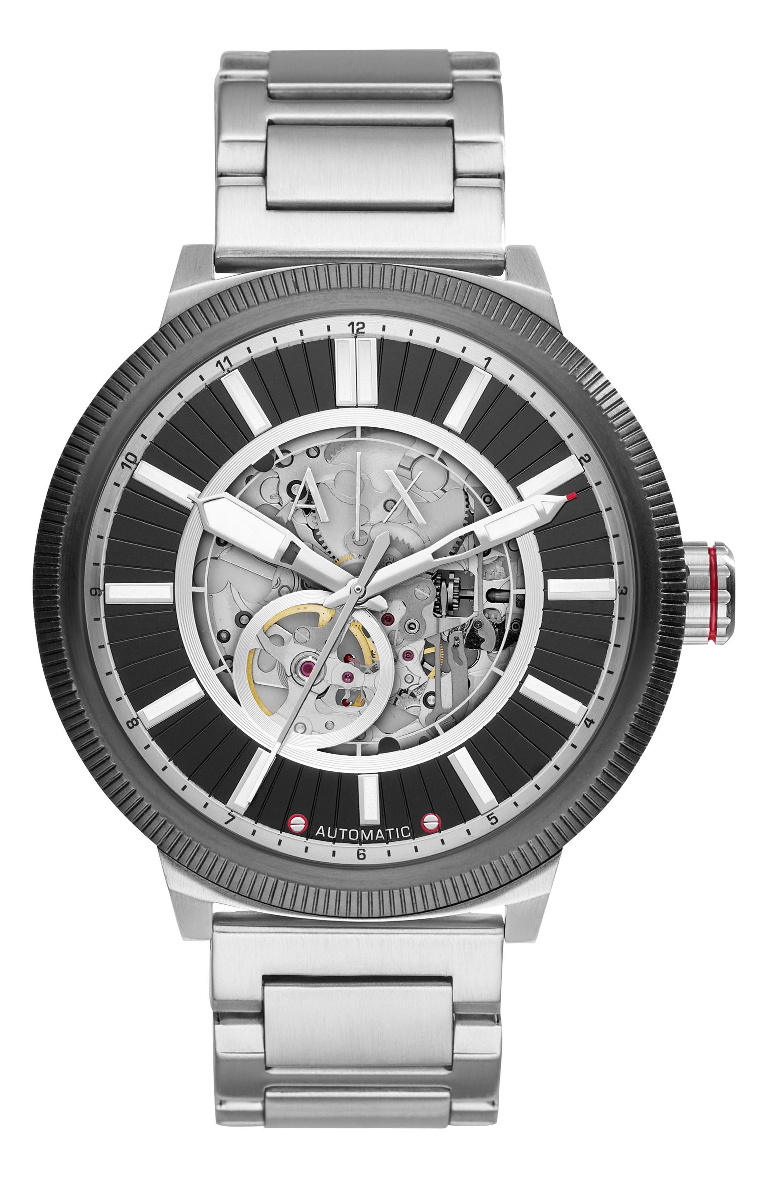 AX Armani Exchange Automatic Bracelet Watch, 49mm
