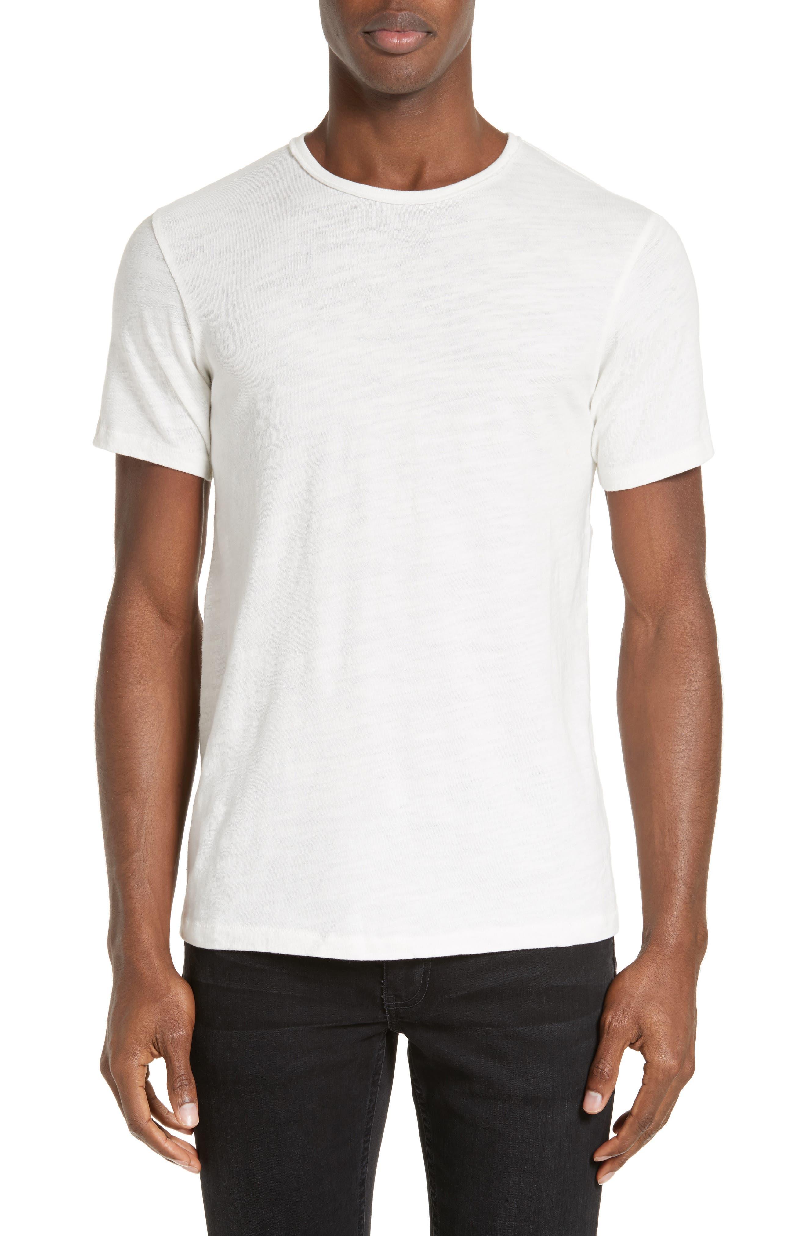 Rag bone standard issue basic crewneck short sleeve t for Rag and bone white t shirt