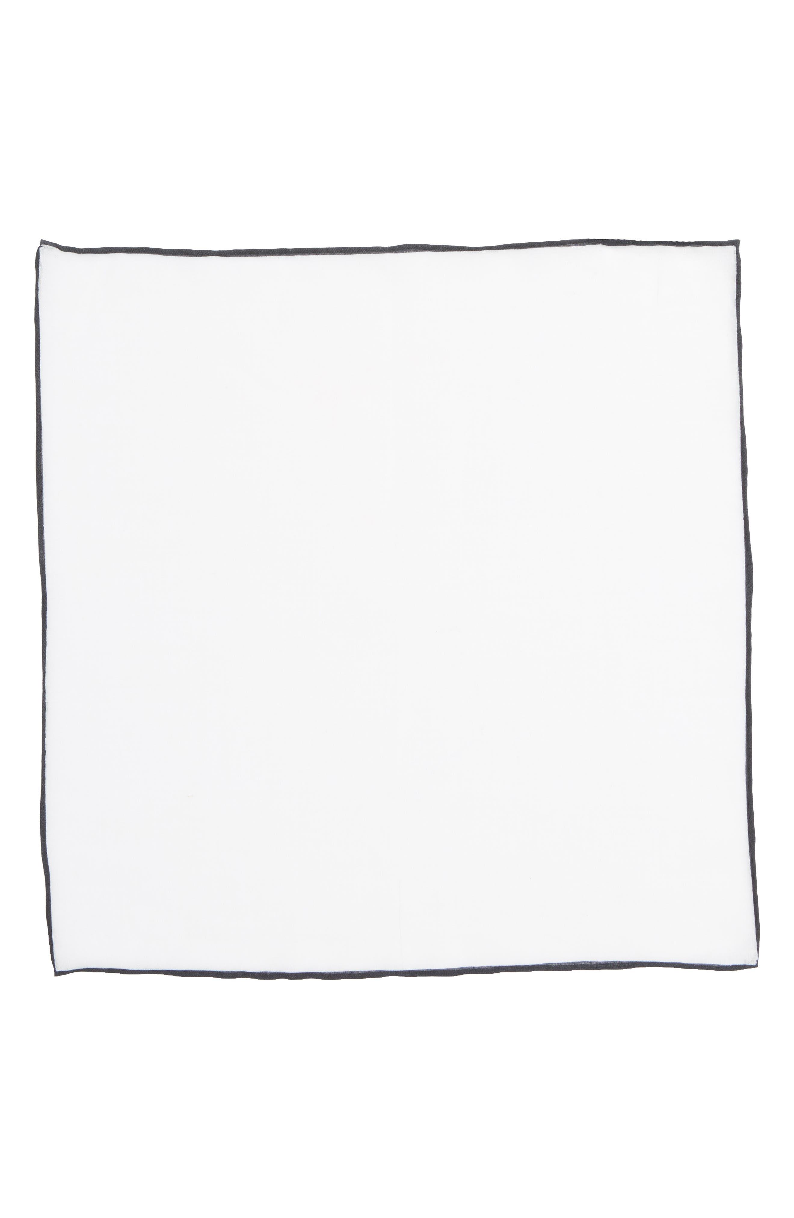 Alternate Image 2  - The Tie Bar Solid Linen Pocket Square