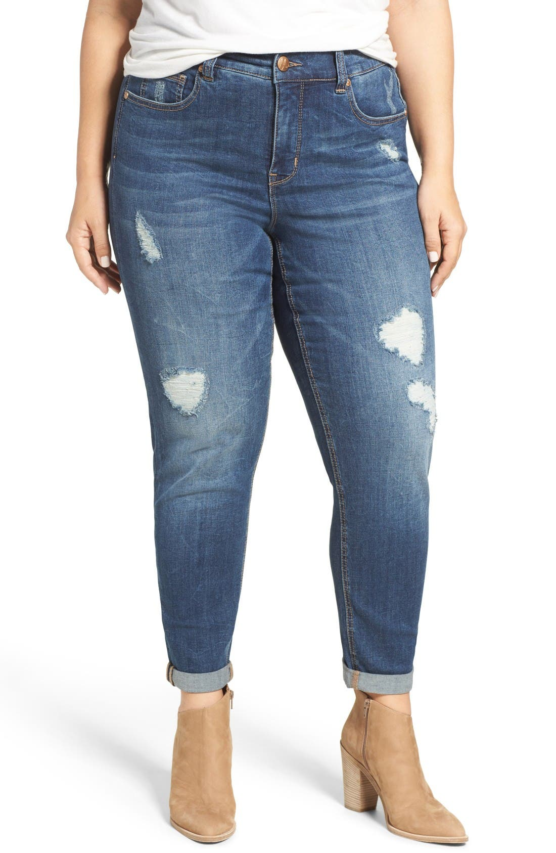 Stretch Straight Leg Jeans,                         Main,                         color, Dynamite