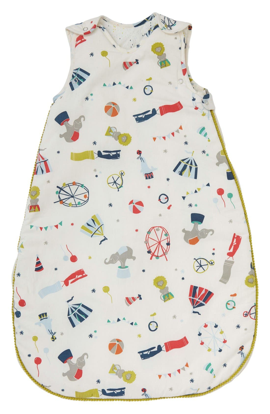 Big Top Print Cotton Wearable Blanket,                         Main,                         color, Blue