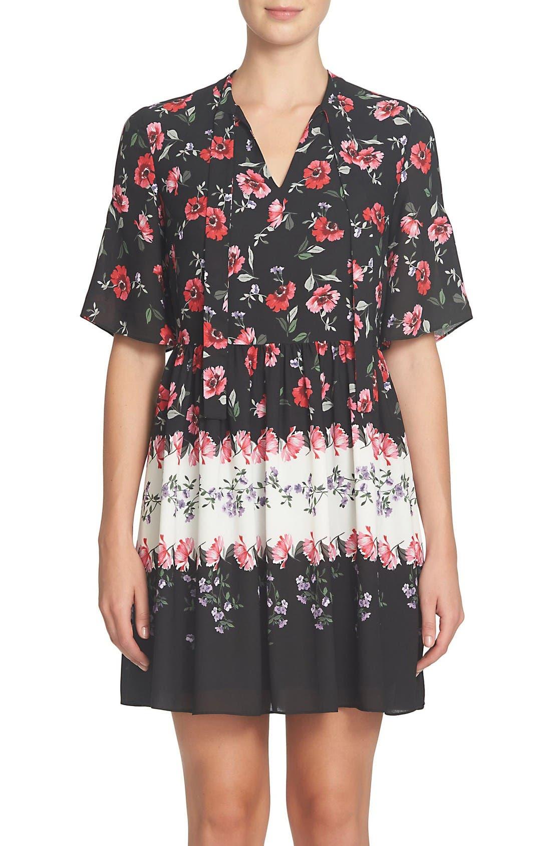 Main Image - CeCe Elise Floral Dress (Regular & Petite)
