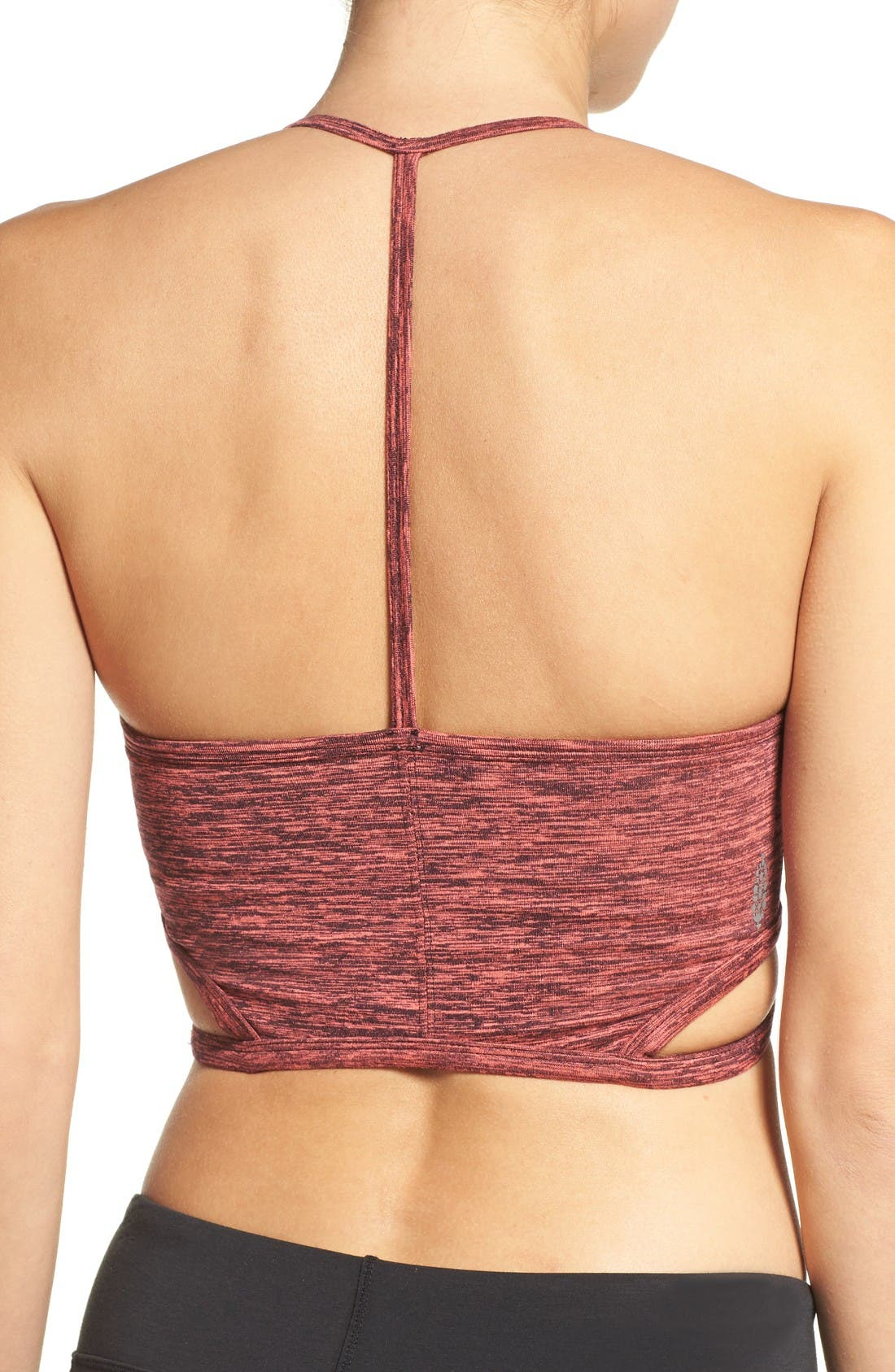 FP Movement Infinity T-Back Sports Bra,                             Alternate thumbnail 2, color,                             True Navy/ Hot Pink