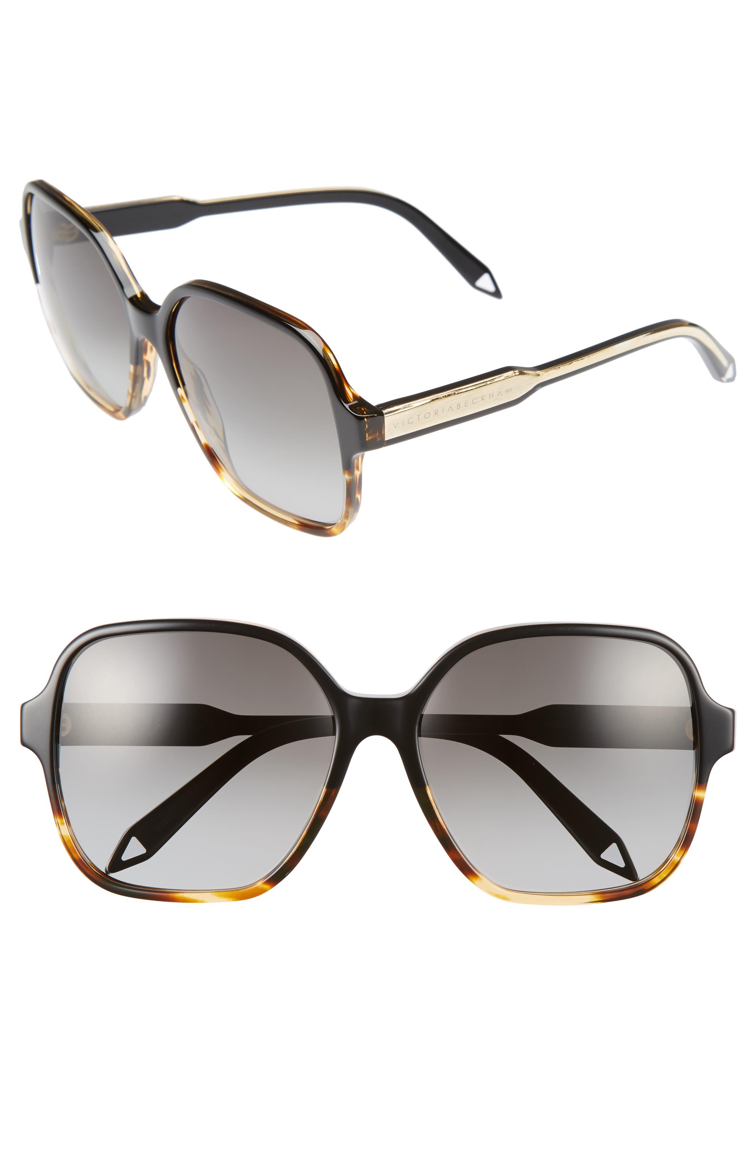 Main Image - Victoria Beckham Iconic Square 59mm Sunglasses