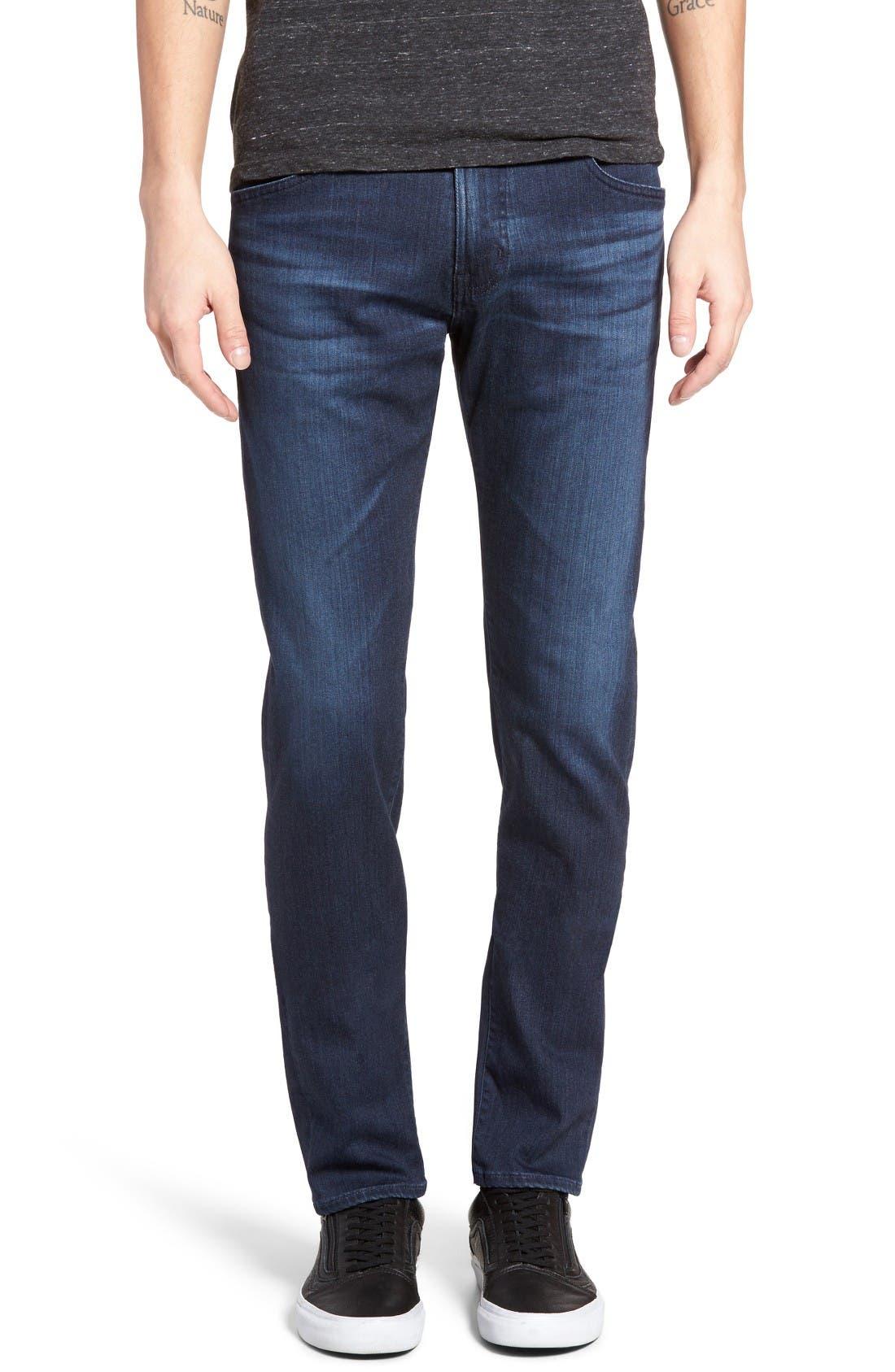 Alternate Image 1 Selected - AG Tellis Slim Fit Jeans (Kast)