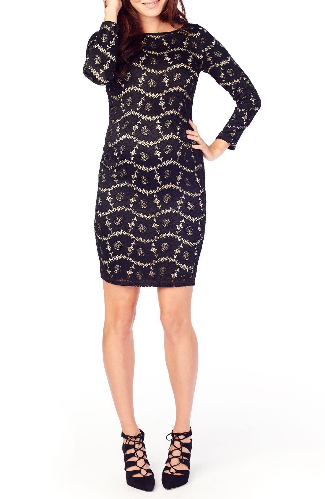 Ingrid U0026 Isabel Lace Maternity Dress