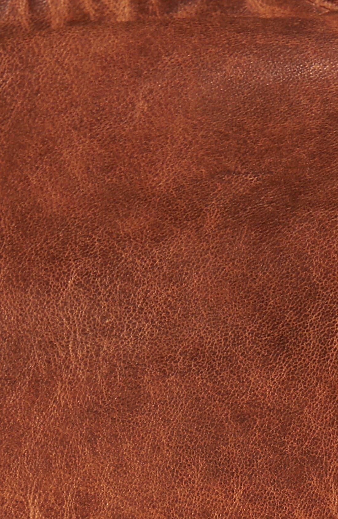 Washed Lamb Leather Jacket,                             Alternate thumbnail 5, color,                             Cognac