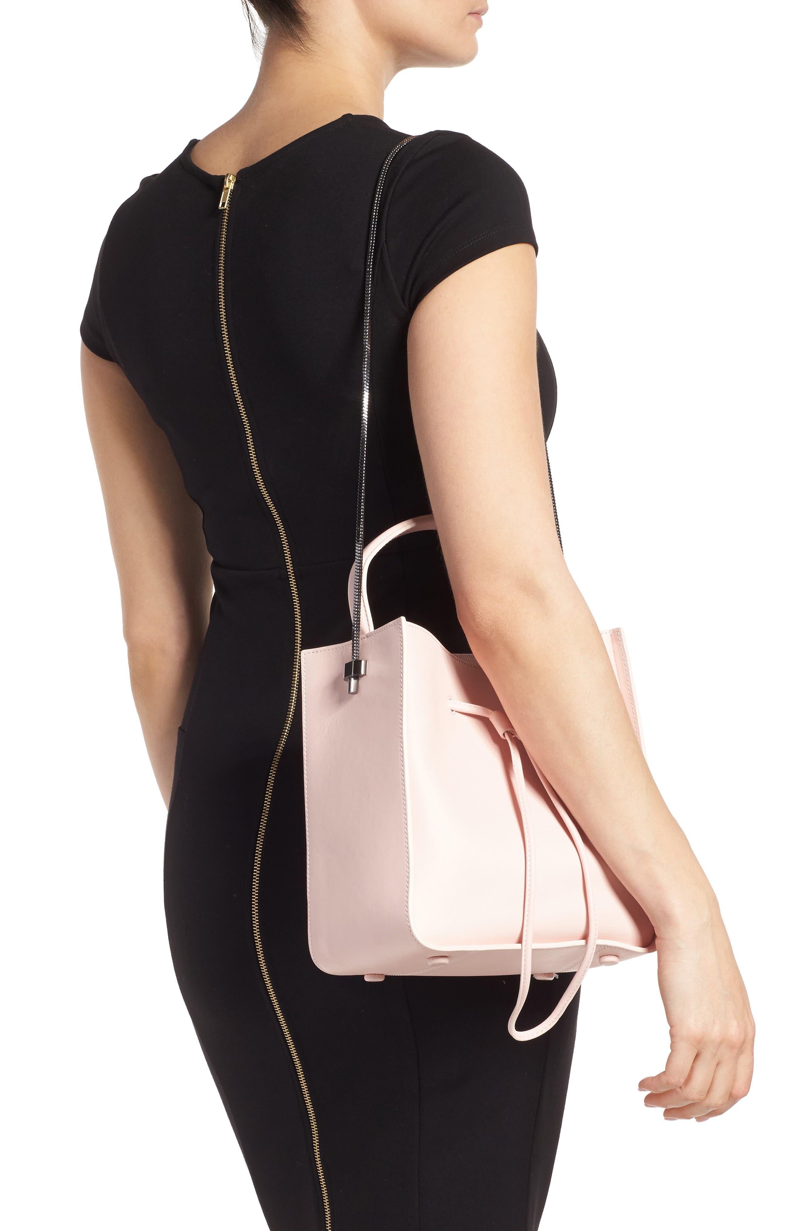 Mini Soleil Leather Bucket Bag,                             Alternate thumbnail 2, color,                             Light Pink