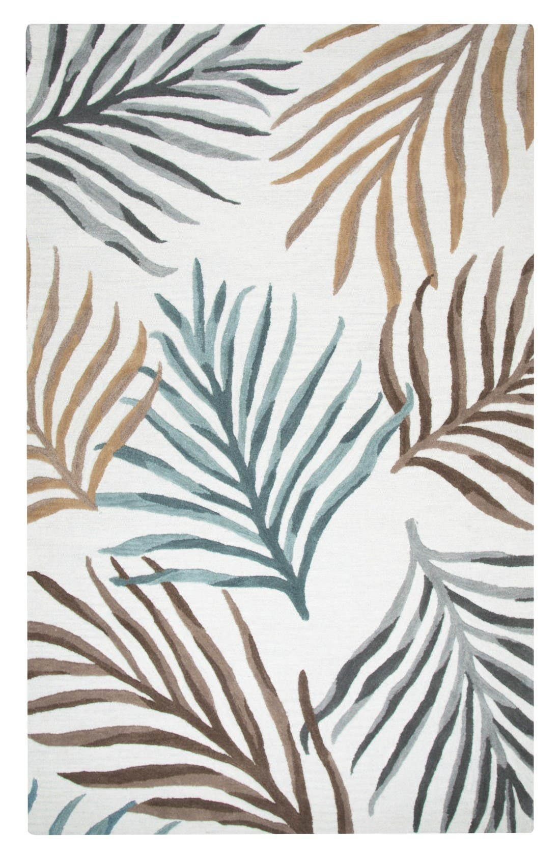 Palm Hand Tufted Wool Area Rug,                         Main,                         color, Cream/ Multi