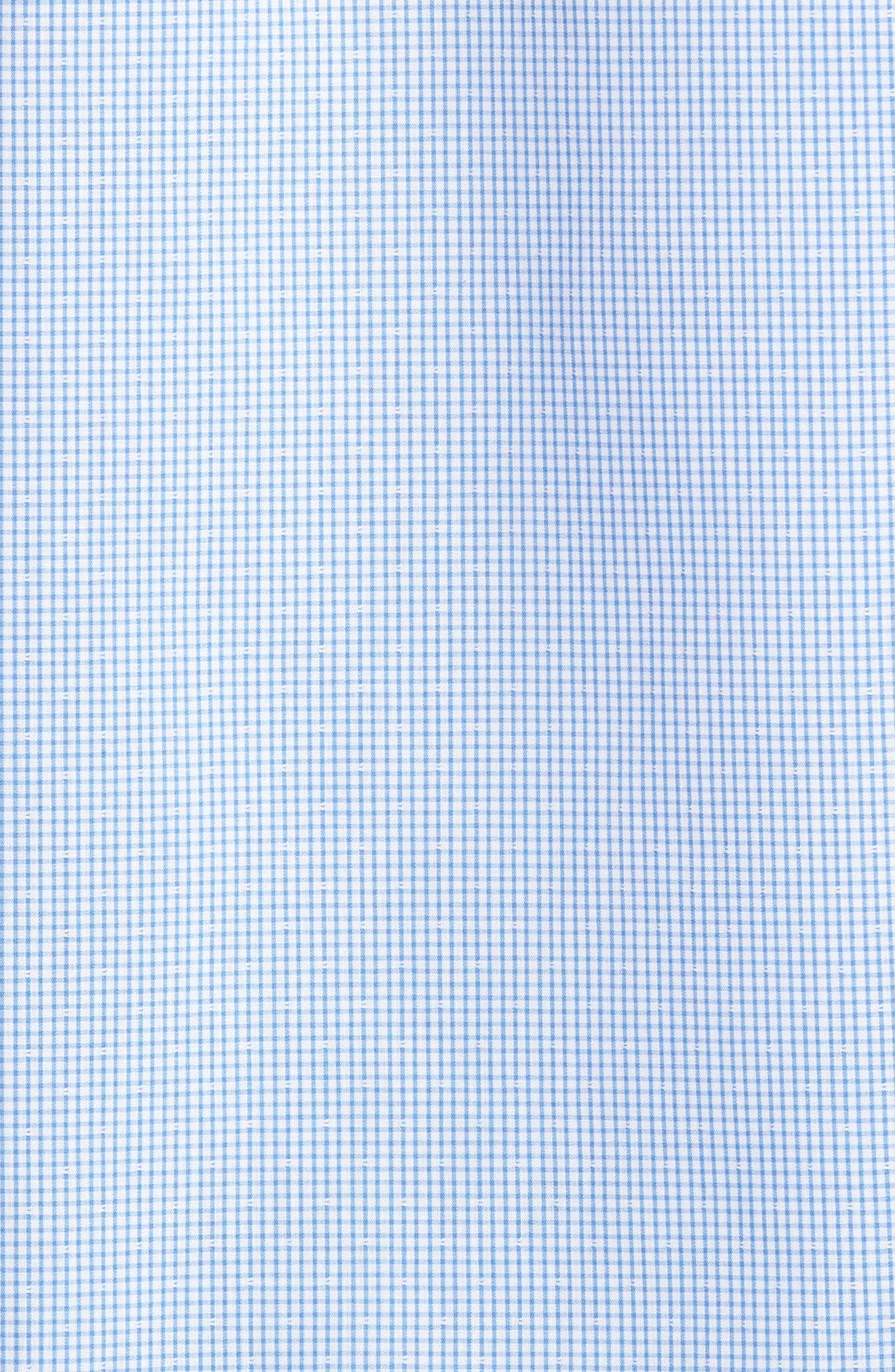 Alternate Image 5  - Nordstrom Men's Shop Trim Fit Non-Iron Dobby Check Sport Shirt (Regular & Tall)