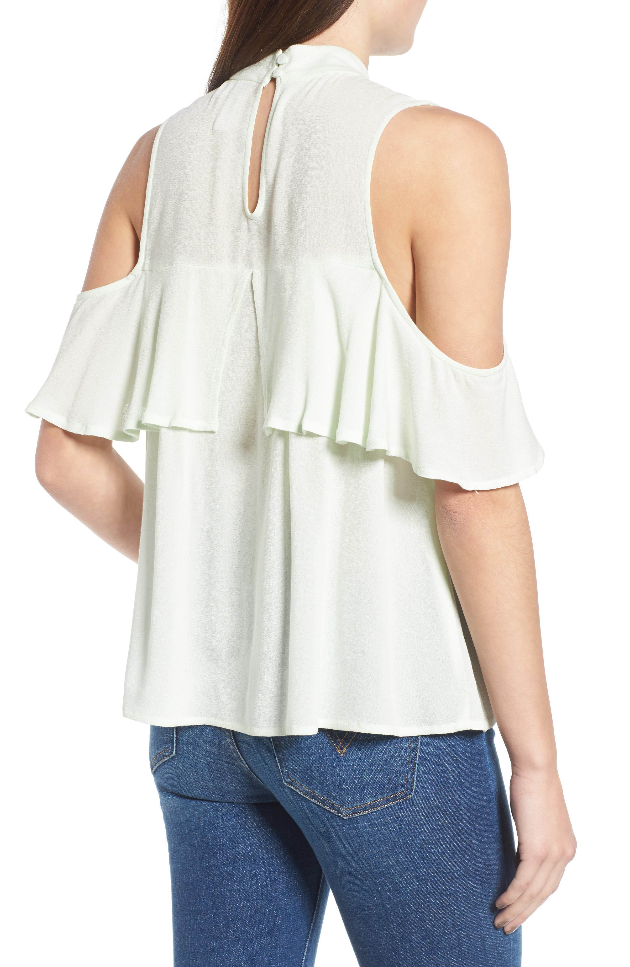 Alternate Image 2  - BP. Ruffle Cold Shoulder Top