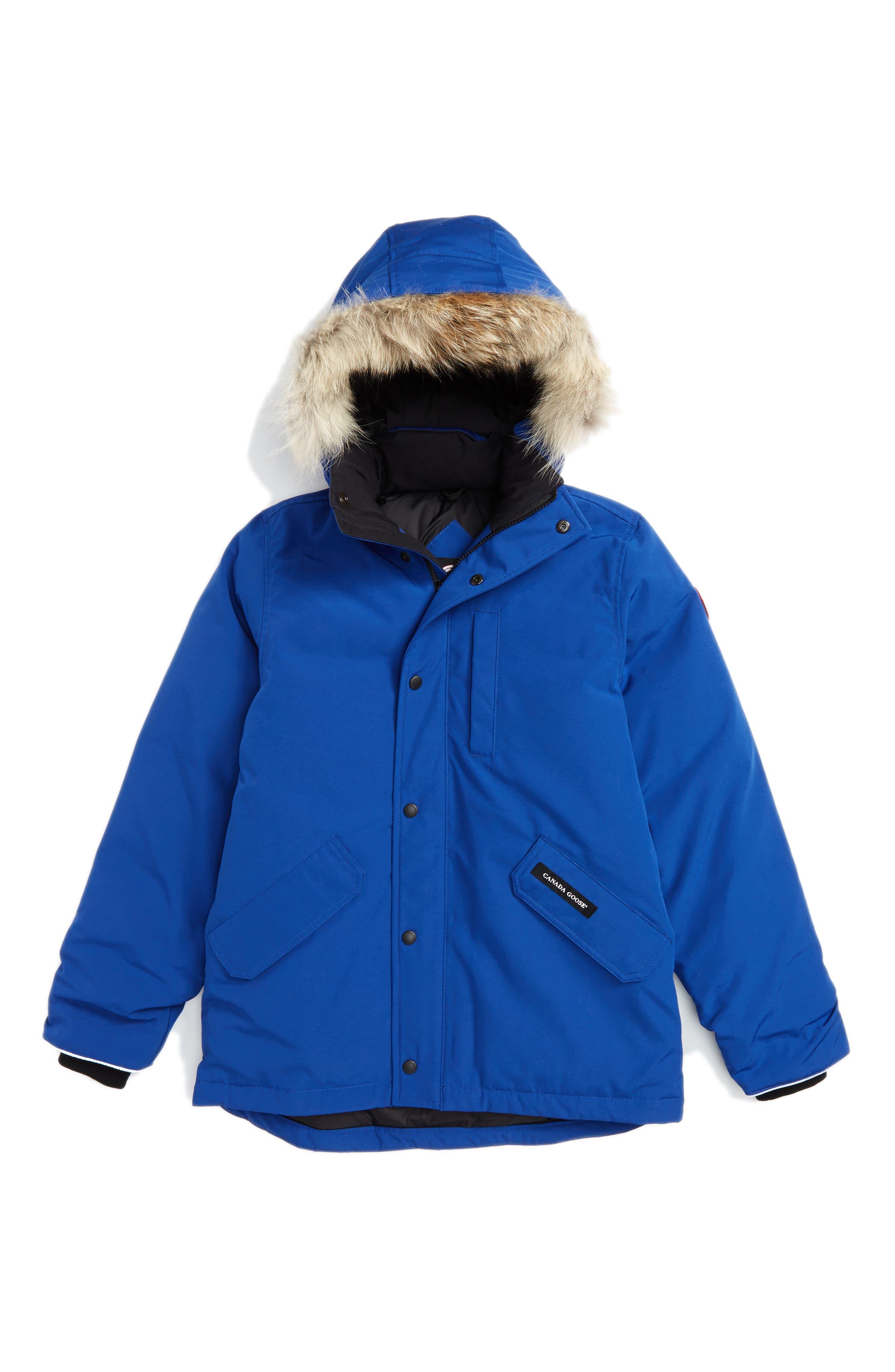 Canada Goose 'Logan' Down Parka with Genuine Coyote Fur Trim (Little Kid & Big Kid)