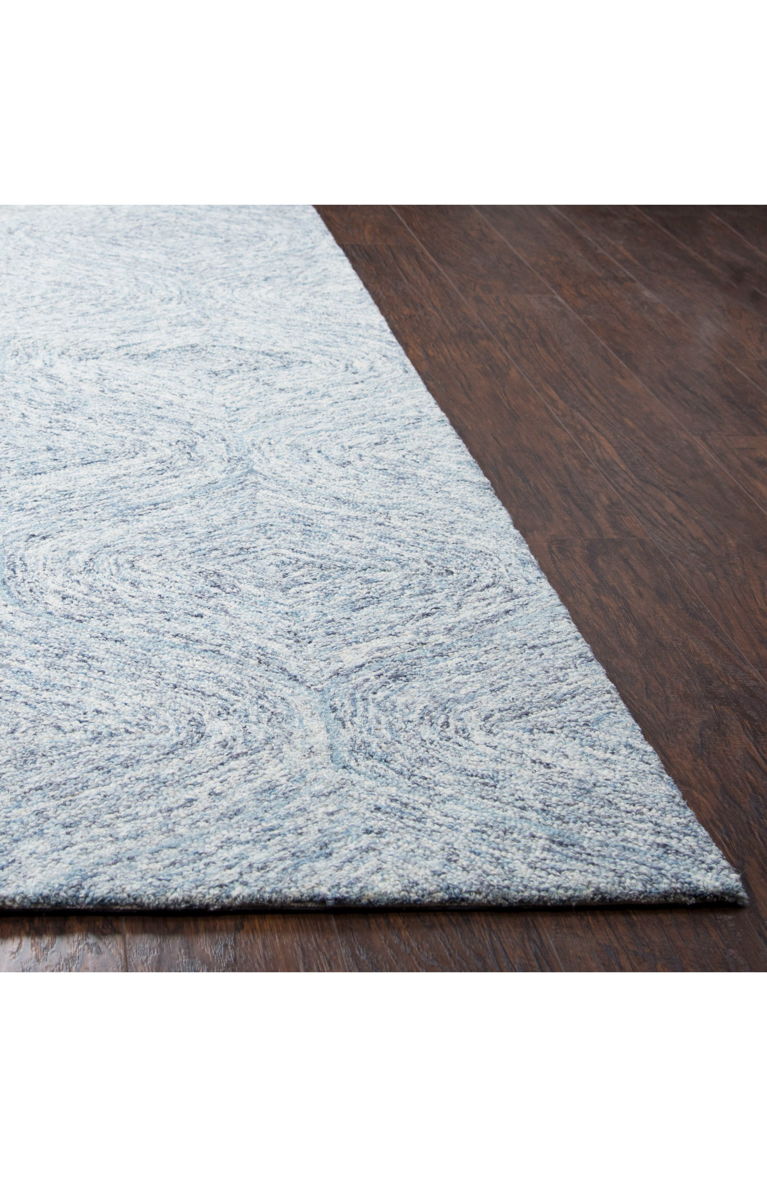 Alternate Image 2  - Rizzy Home Irregular Diamond Hand Tufted Wool Area Rug