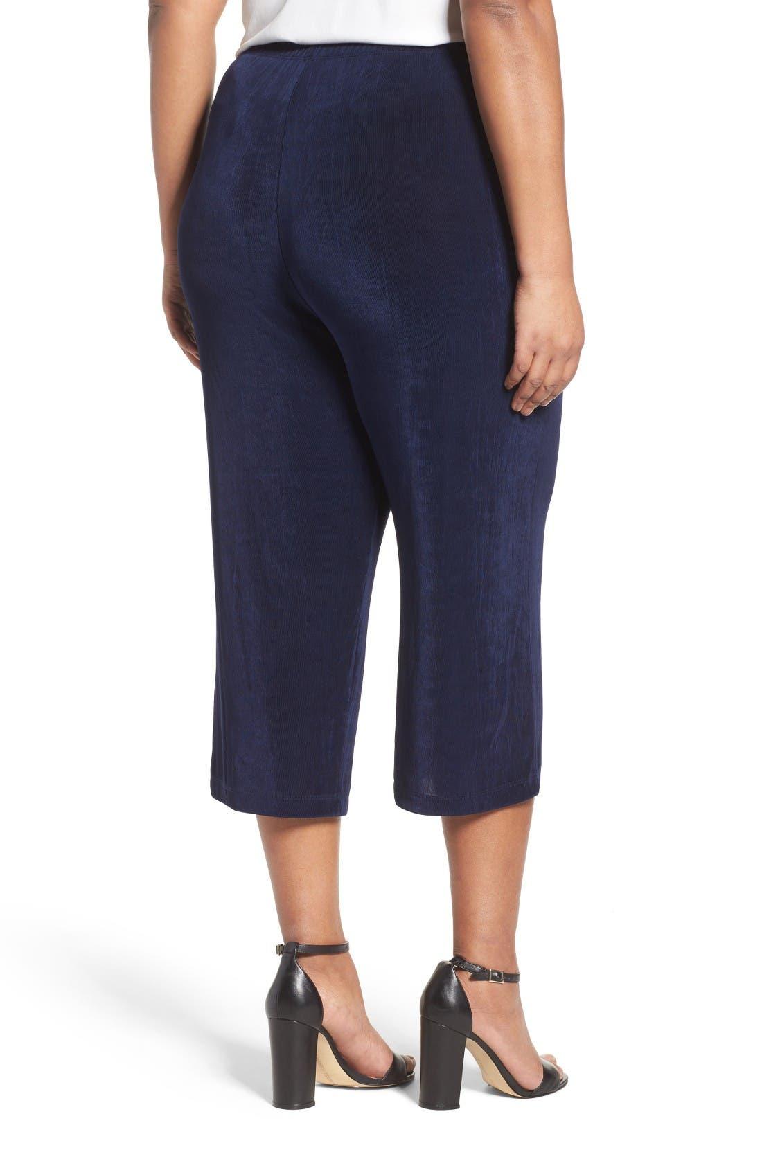 Alternate Image 2  - Vikki Vi Stretch Knit Crop Pants (Plus Size)