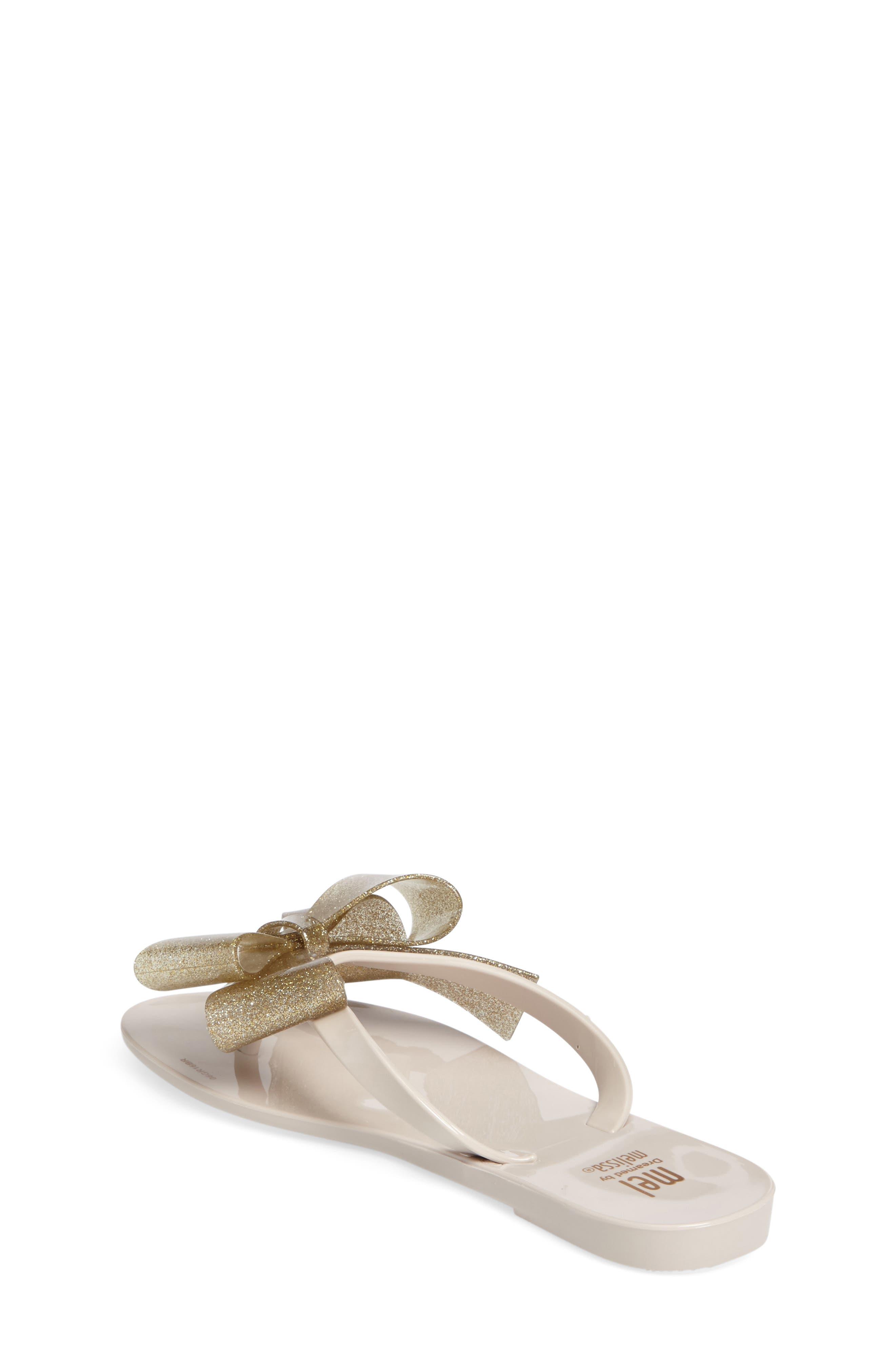 Harmonic Bow III Sandal,                             Alternate thumbnail 2, color,                             Beige Gold Glitter