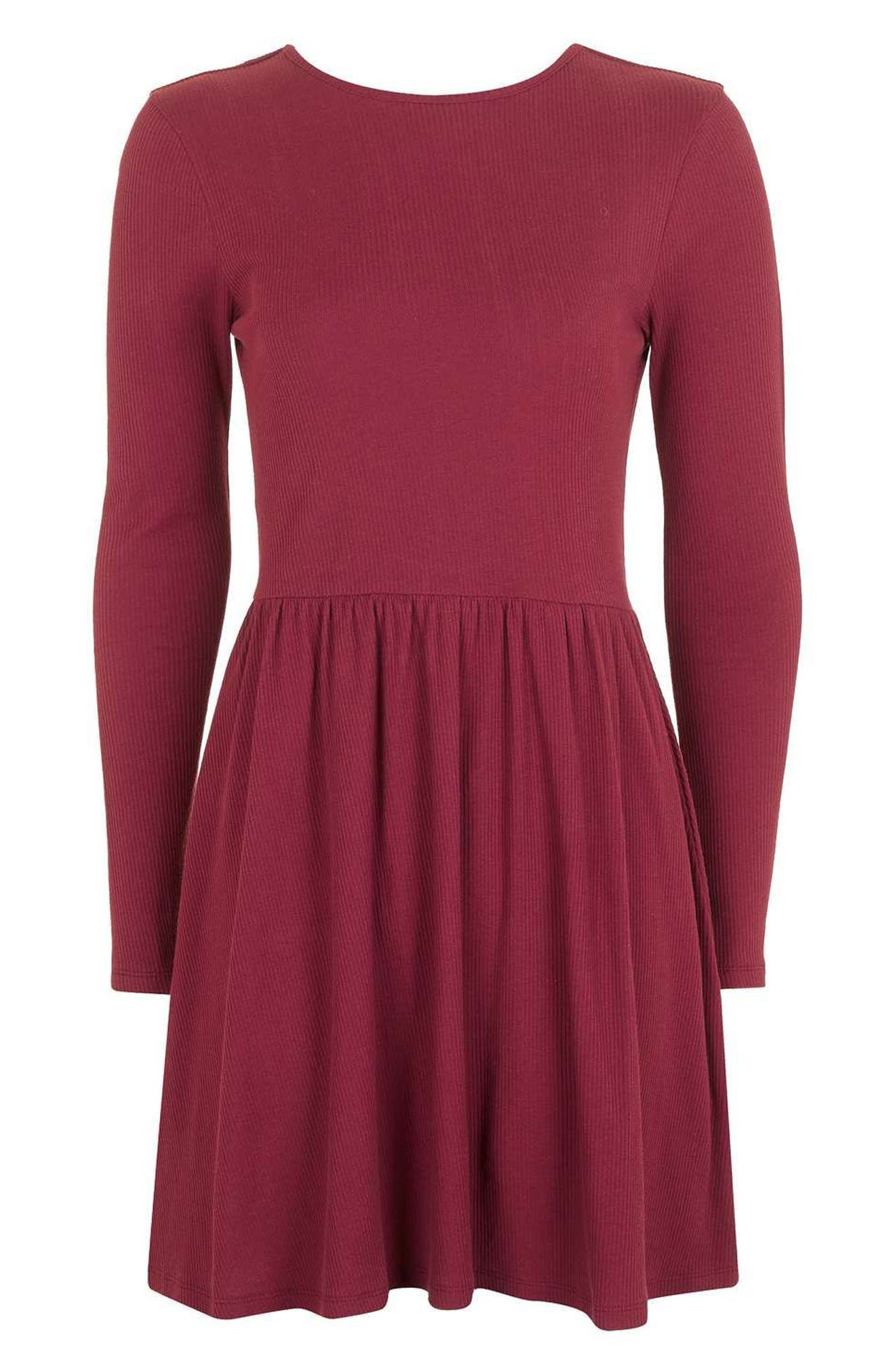 Alternate Image 4  - Topshop Tie Back Skater Dress