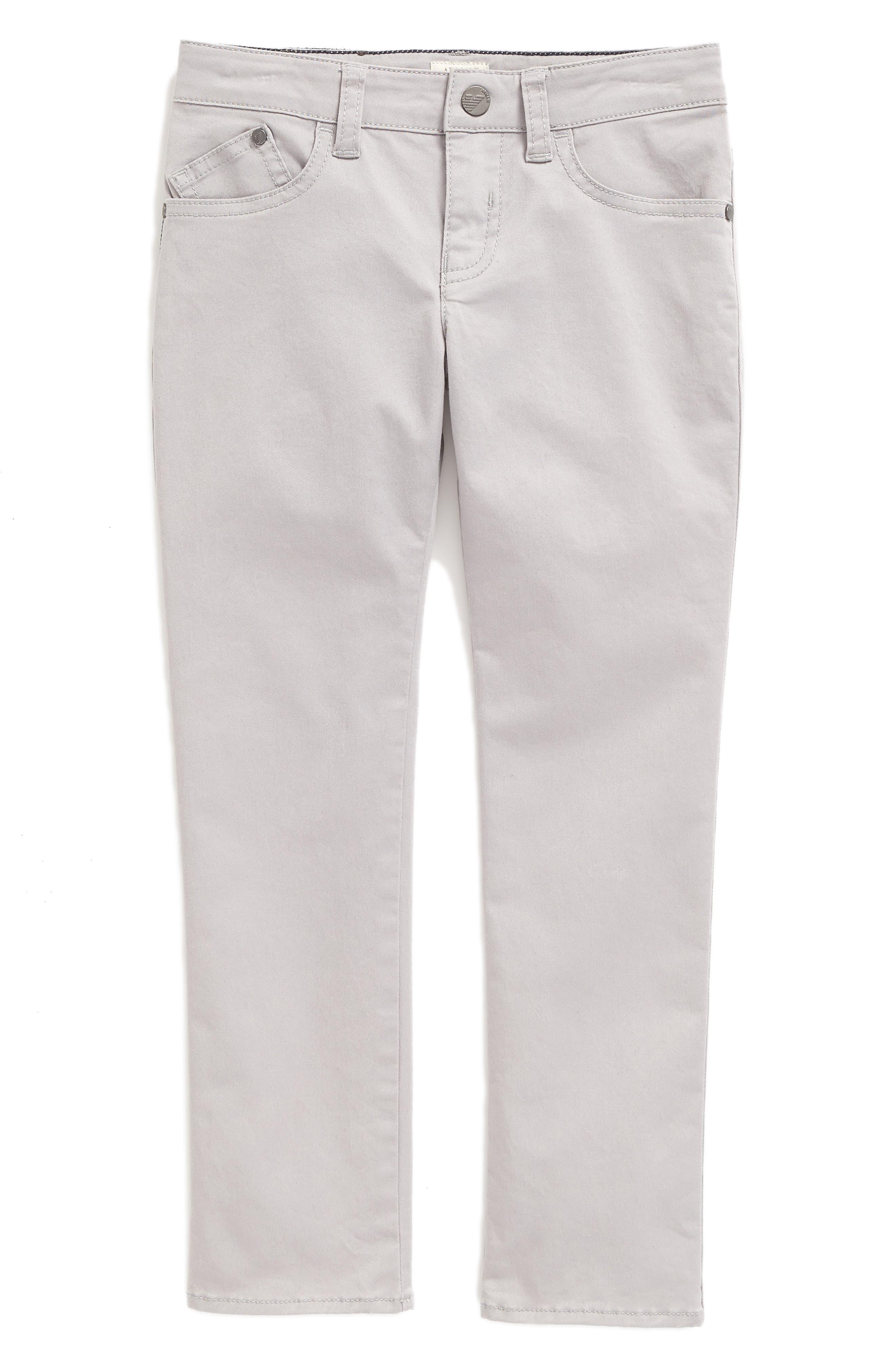 ARMANI JUNIOR Stretch Cotton Twill Pants
