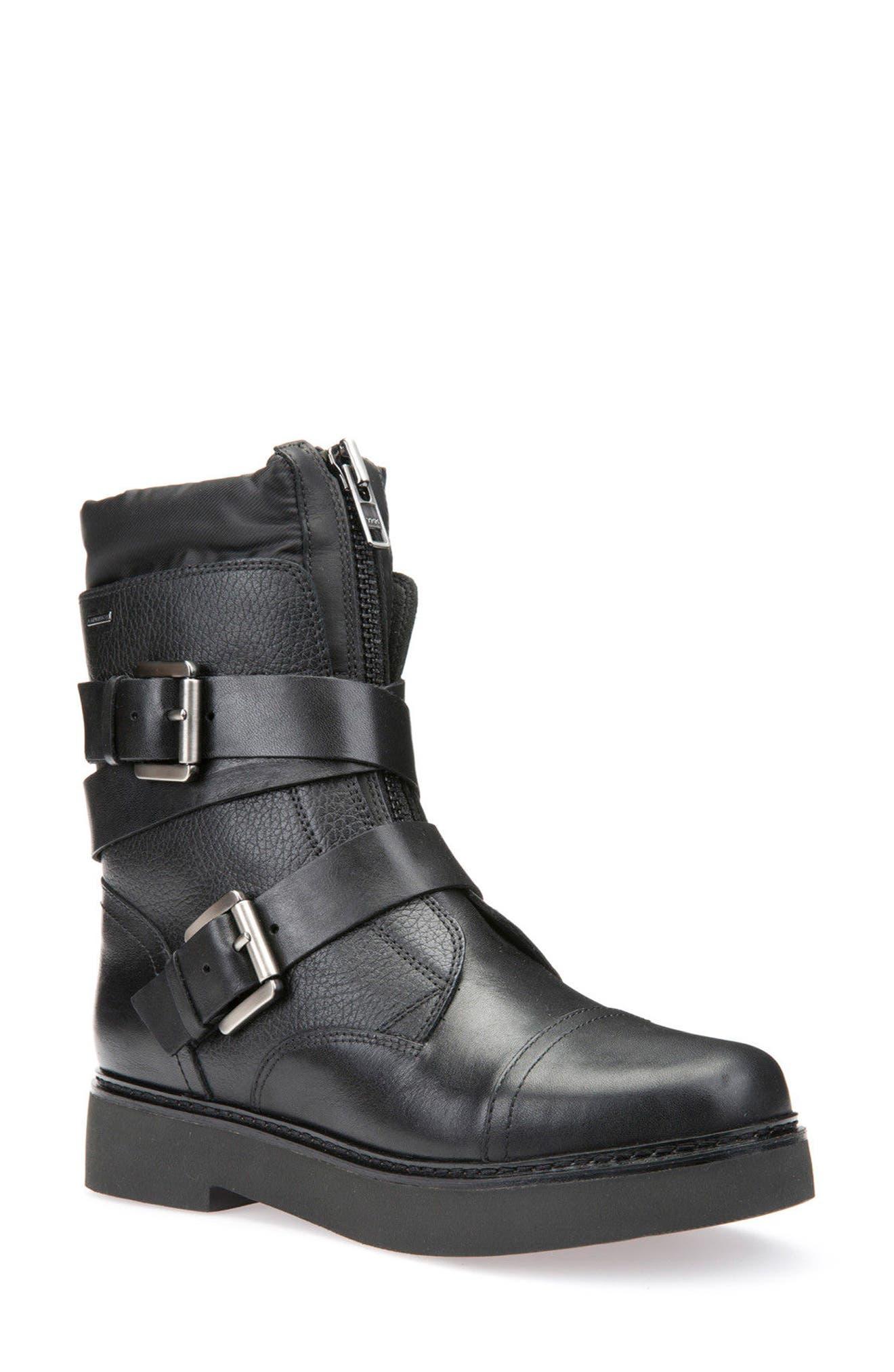 Main Image - Geox Rayssa Moto Boot (Women)