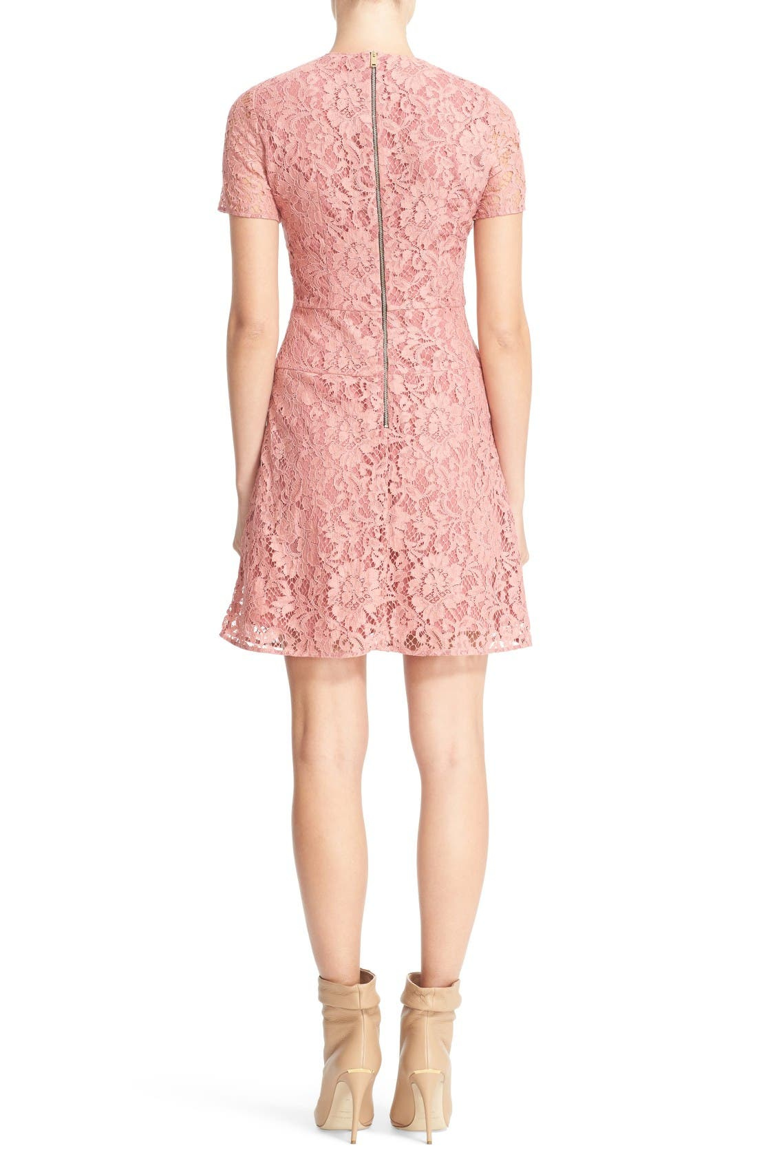 Alternate Image 2  - Burberry Christy Lace Fit & Flare Dress