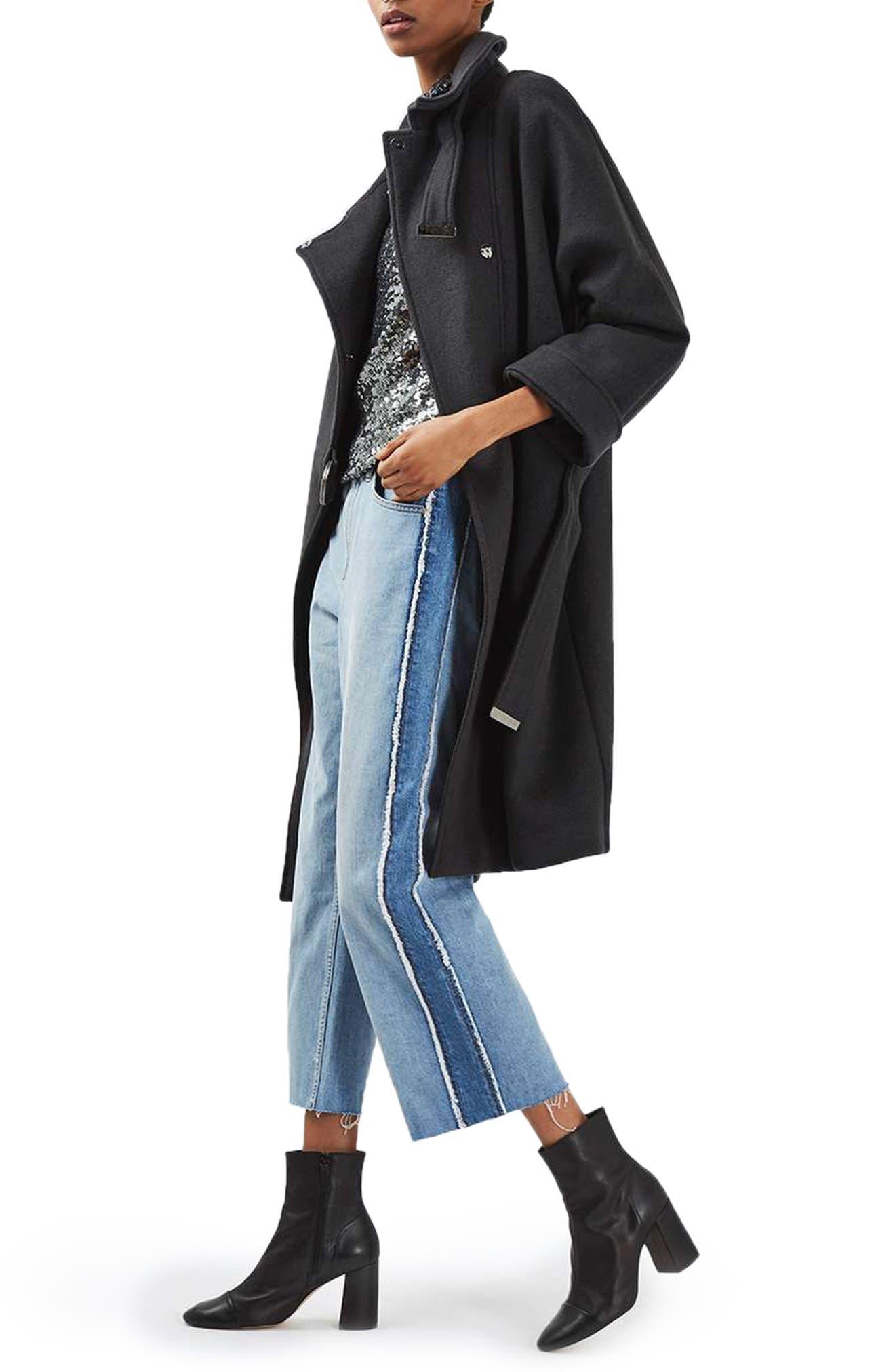 Alternate Image 2  - Topshop Wool Blend Coat