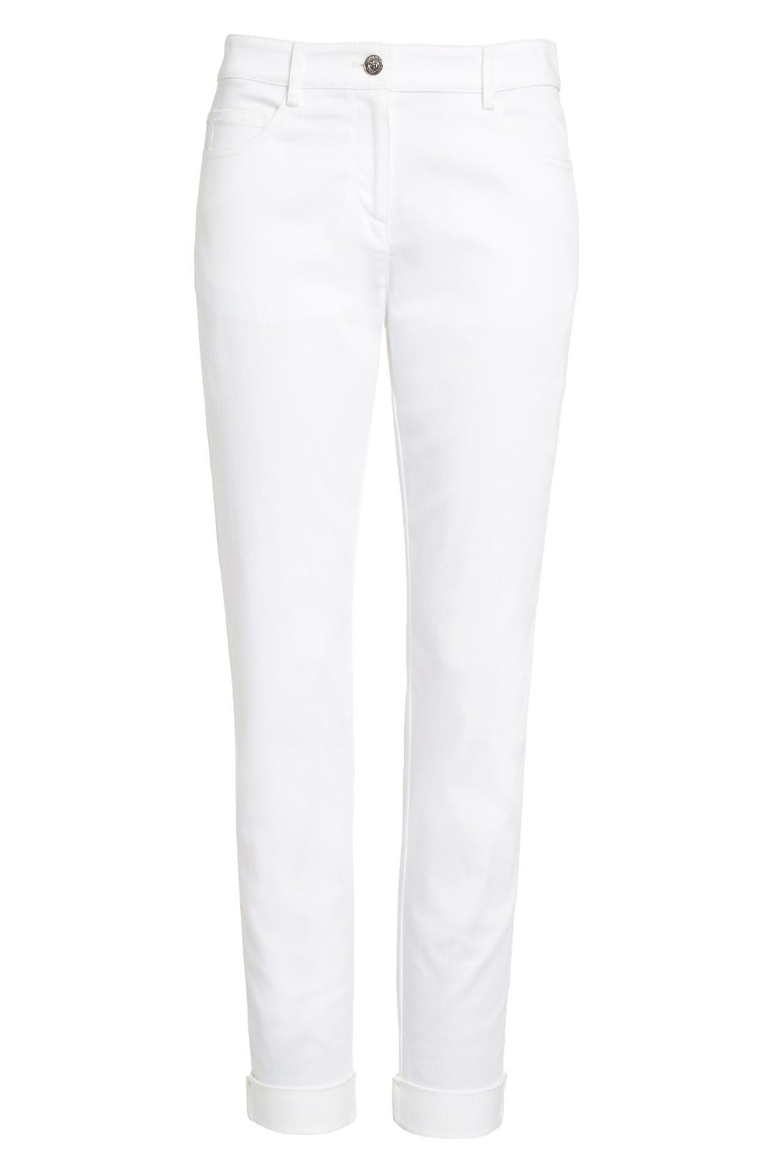 Alternate Image 4  - St. John Sport Collection Bardot Slim Capri Jeans