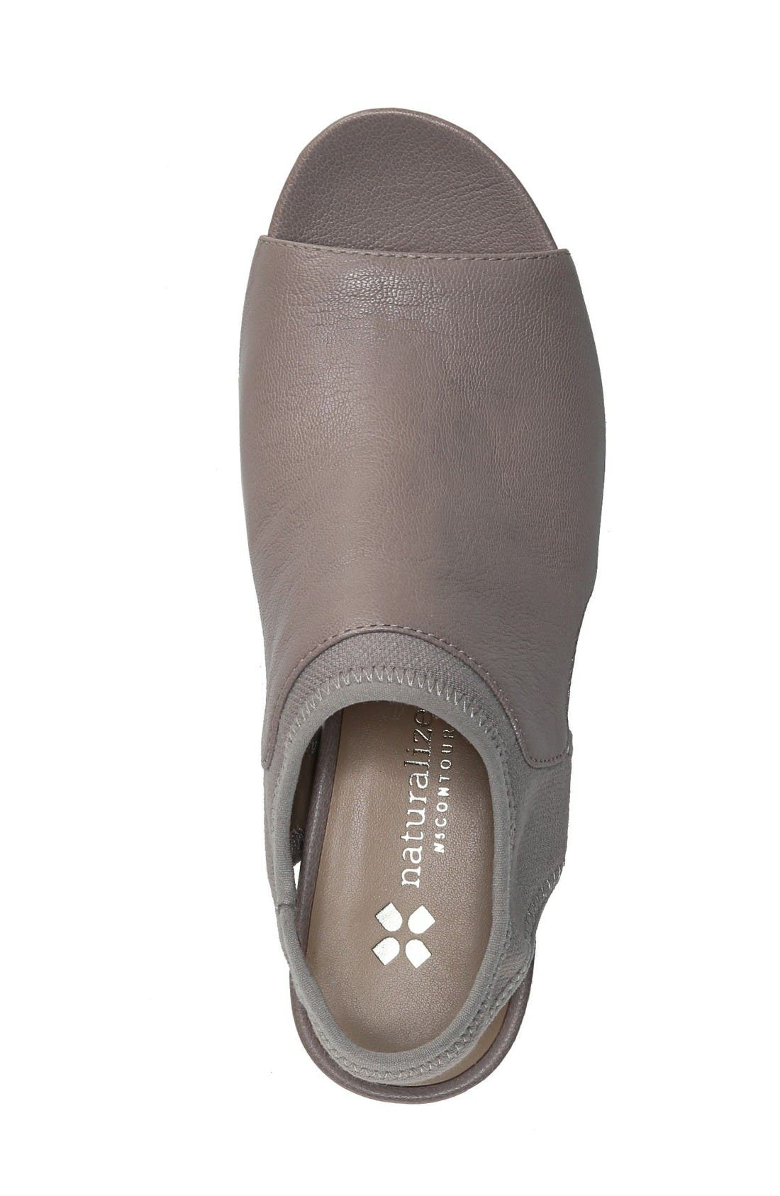 Cailla Shield Sandal,                             Alternate thumbnail 3, color,                             Grey Leather