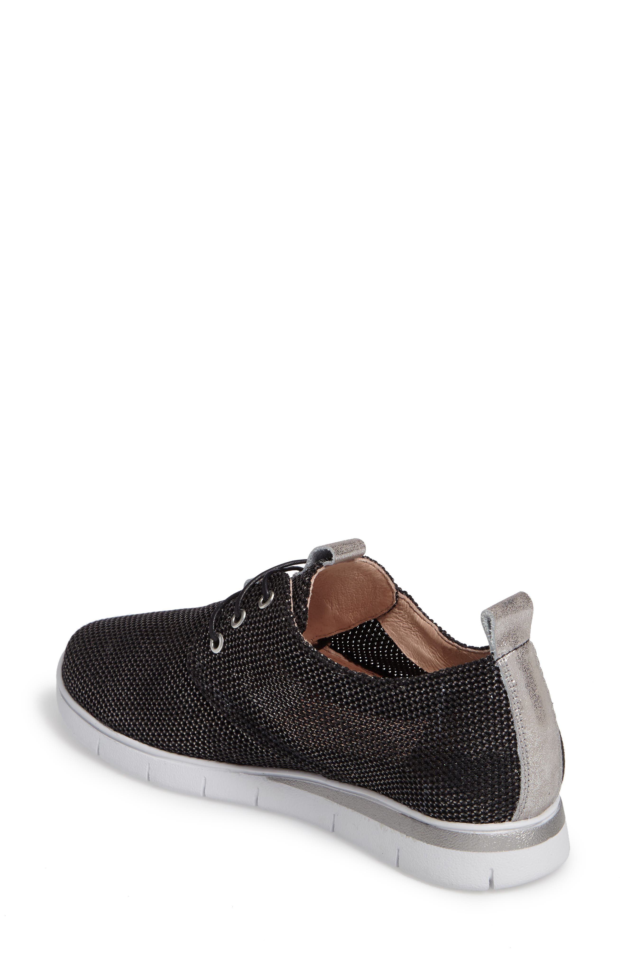 Gala Perforated Sneaker,                             Alternate thumbnail 2, color,                             Bionic Black Leather