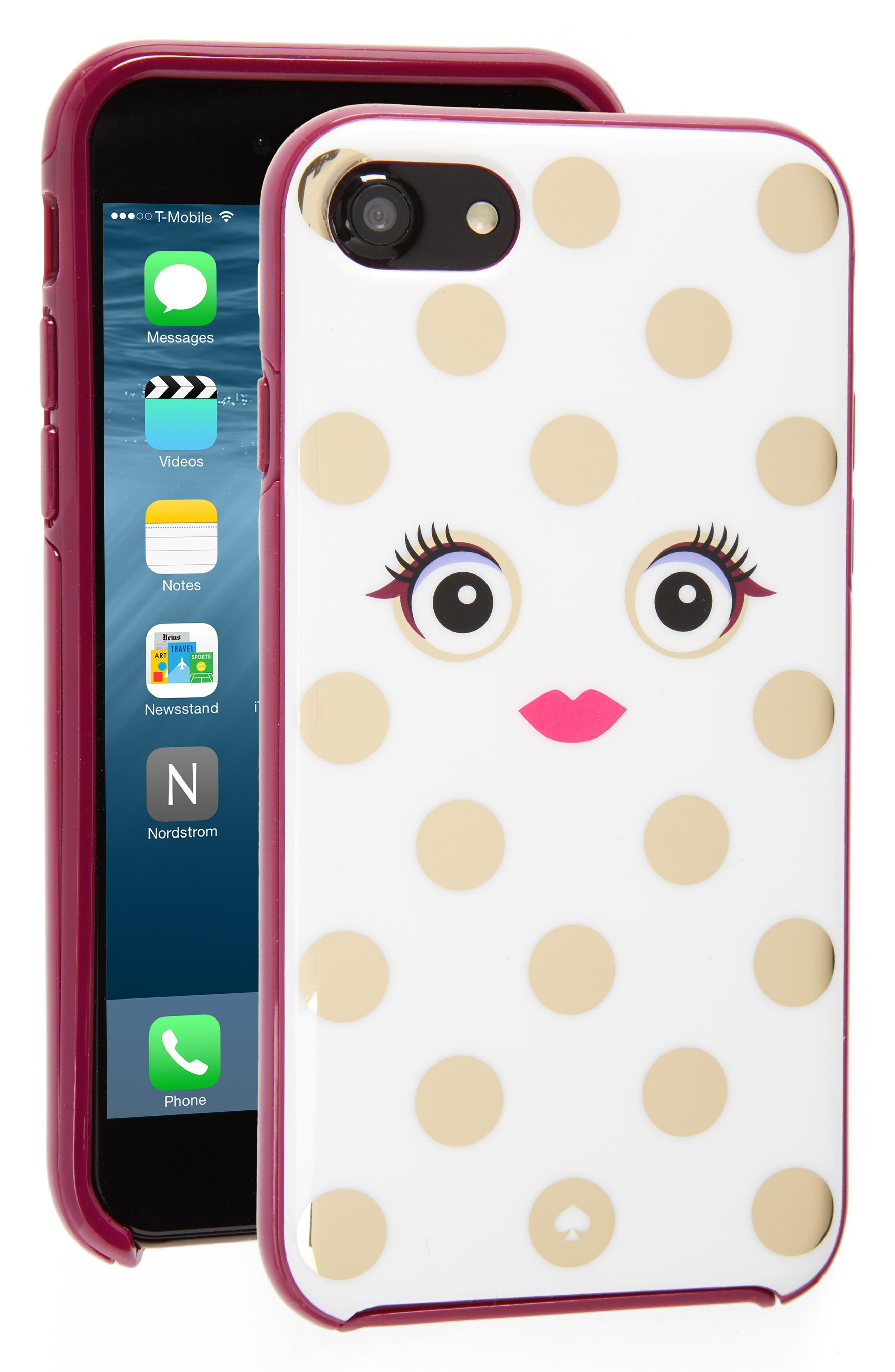 Alternate Image 1 Selected - kate spade new york framed picture dot monster iPhone 7/7s case