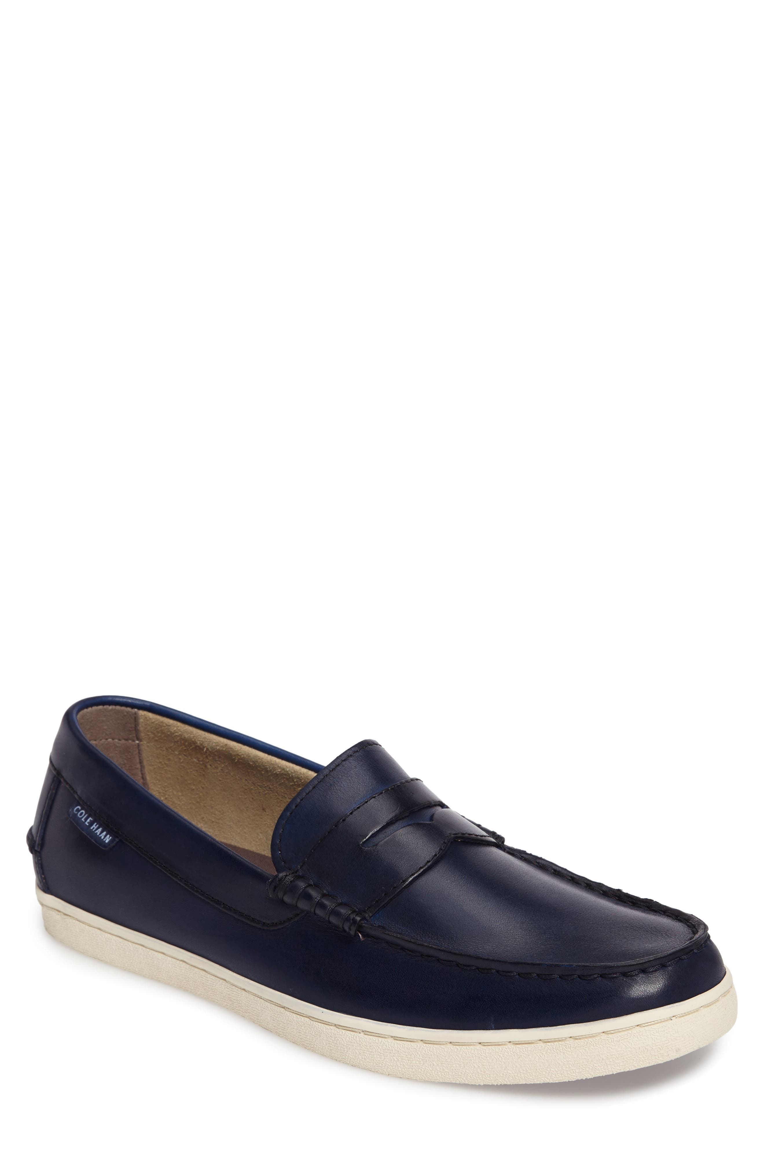 Pinch Penny Loafer,                             Main thumbnail 1, color,                             Blazer Blue Leather