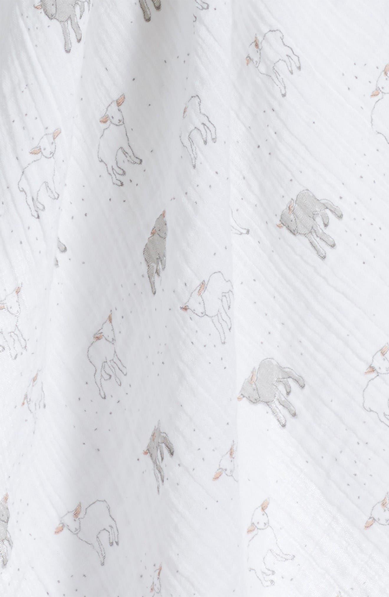 Little Lamb Swaddle Blanket,                             Alternate thumbnail 3, color,                             White