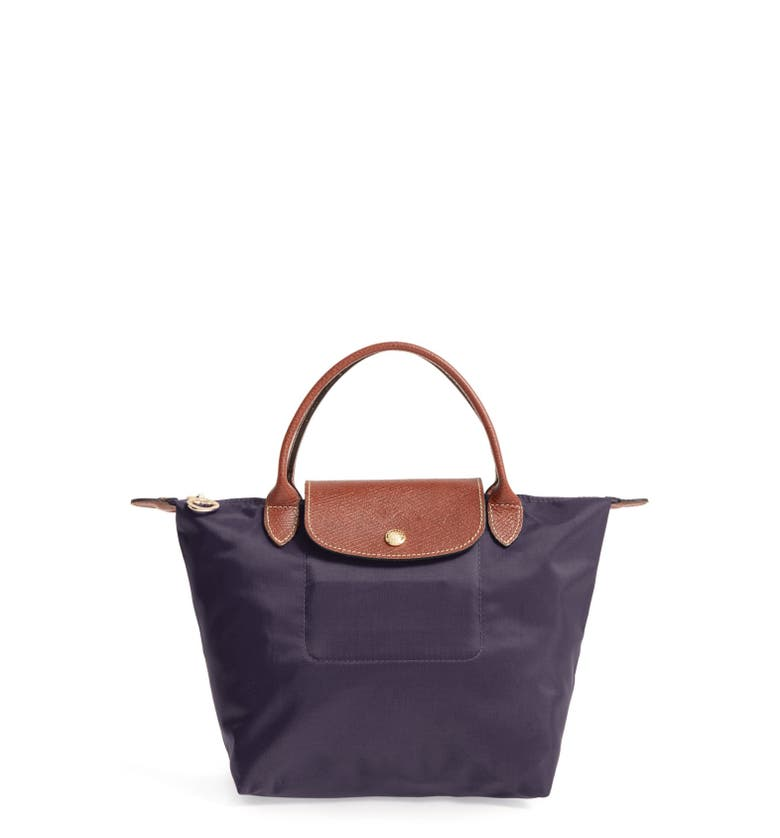 Longchamp Leathers 'Small Le Pliage' Top Handle Tote