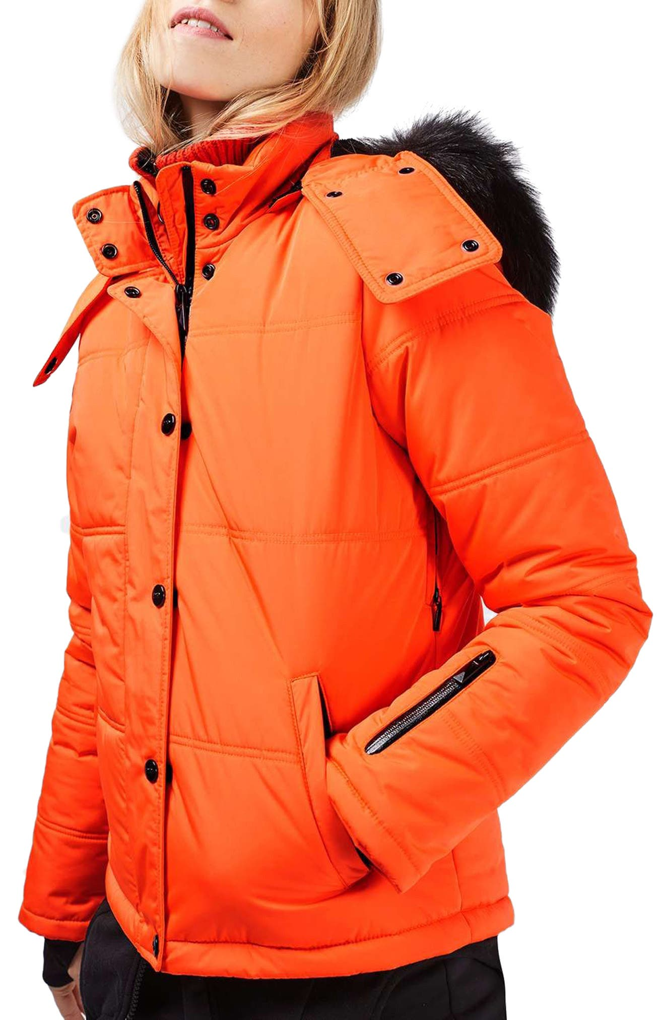 Alternate Image 1 Selected - Topshop Hero Puffer Ski Jacket