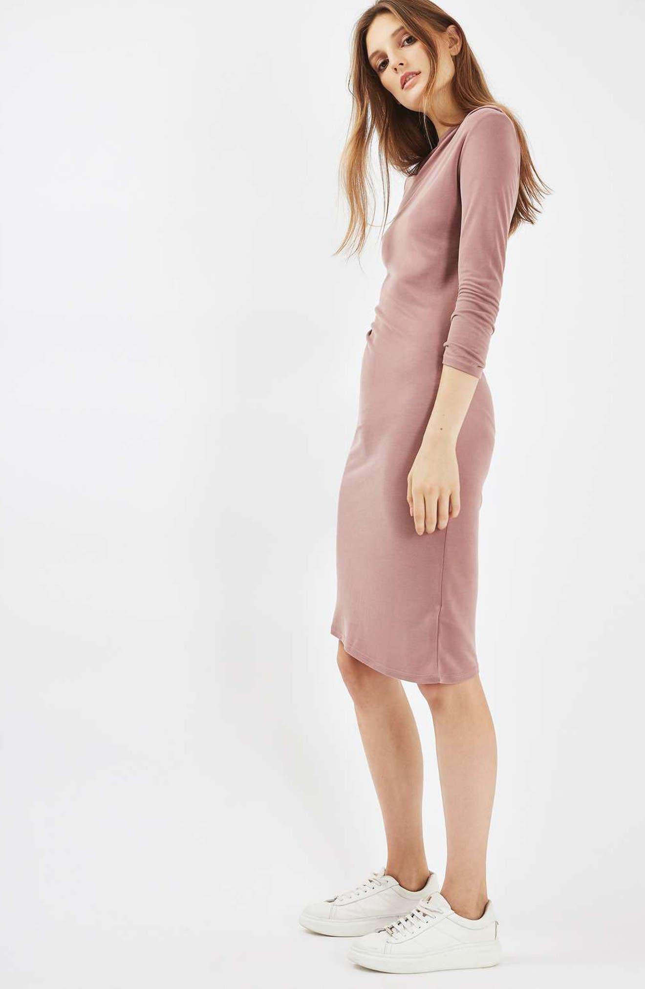 Alternate Image 2  - Topshop Drape Midi Dress