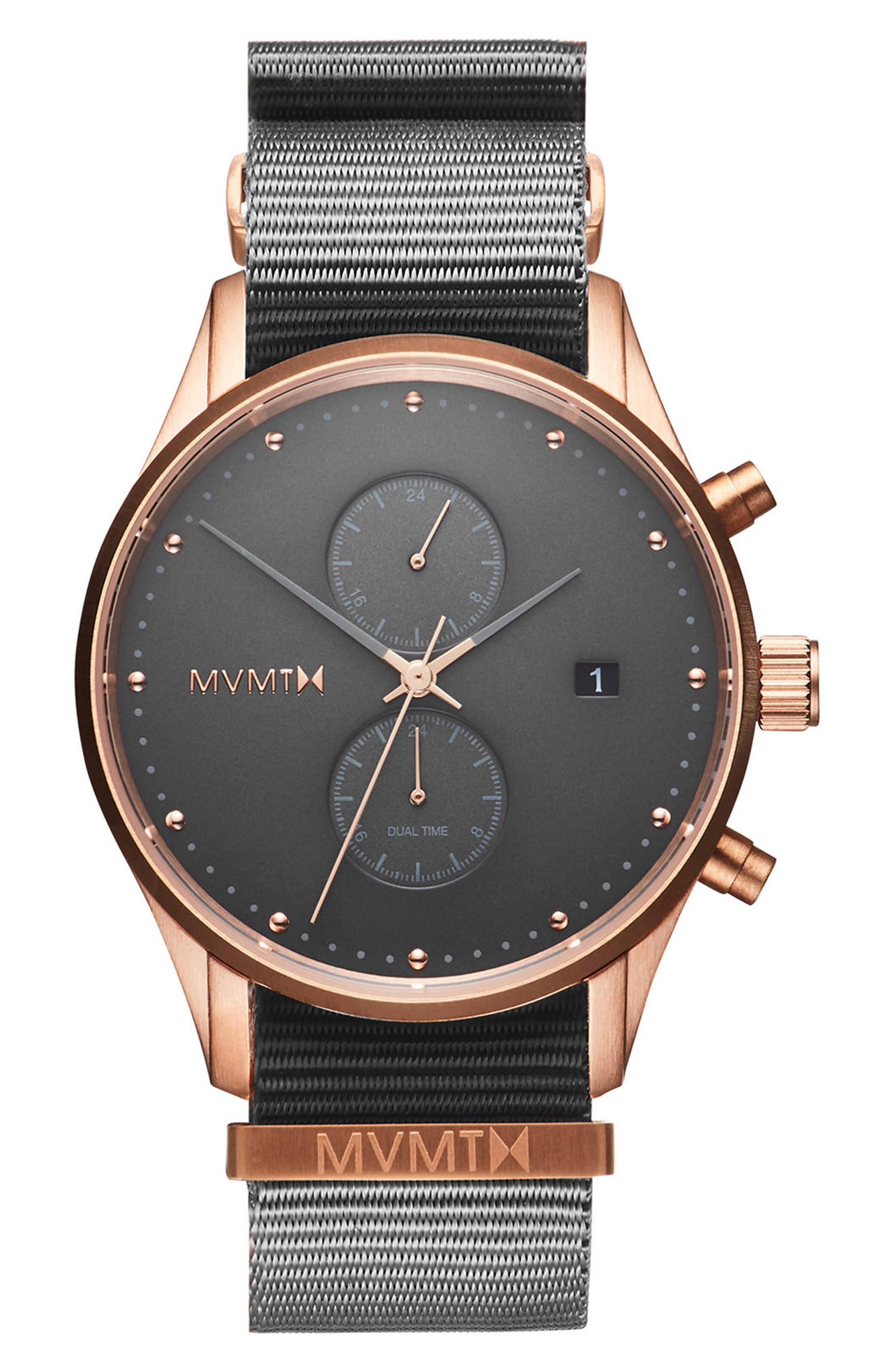 Main Image - MVMT Voyager Chronograph Canvas Strap Watch, 42mm
