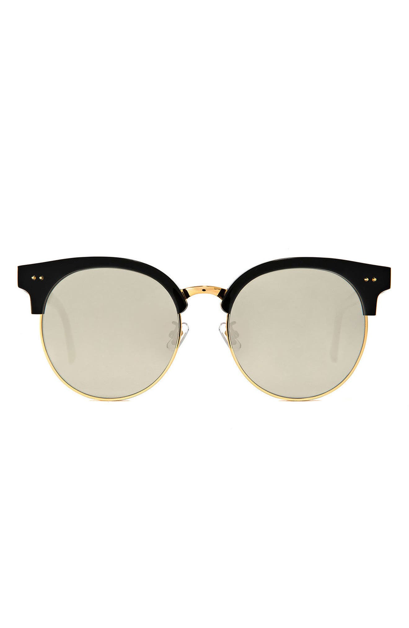 Moon Cut 55mm Sunglasses,                             Main thumbnail 1, color,                             Black/Gold