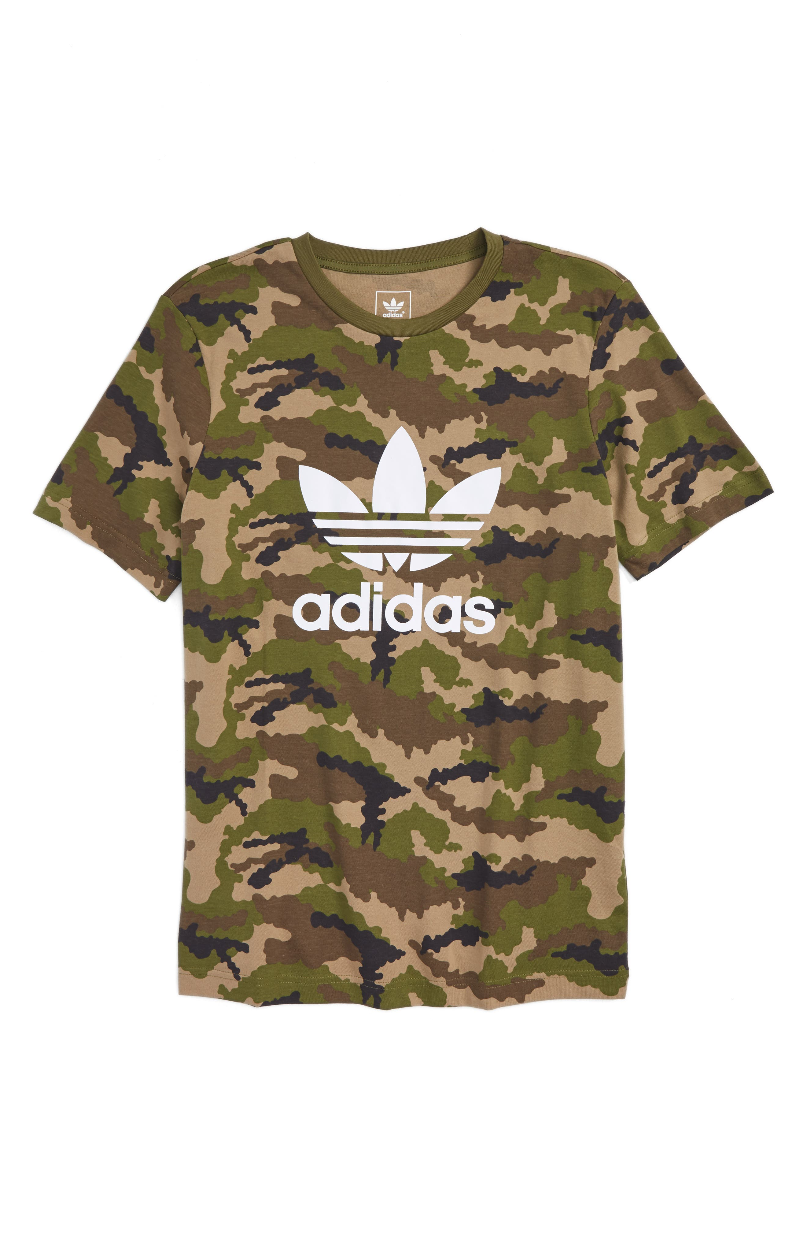 adidas trefoil t shirt with lip print