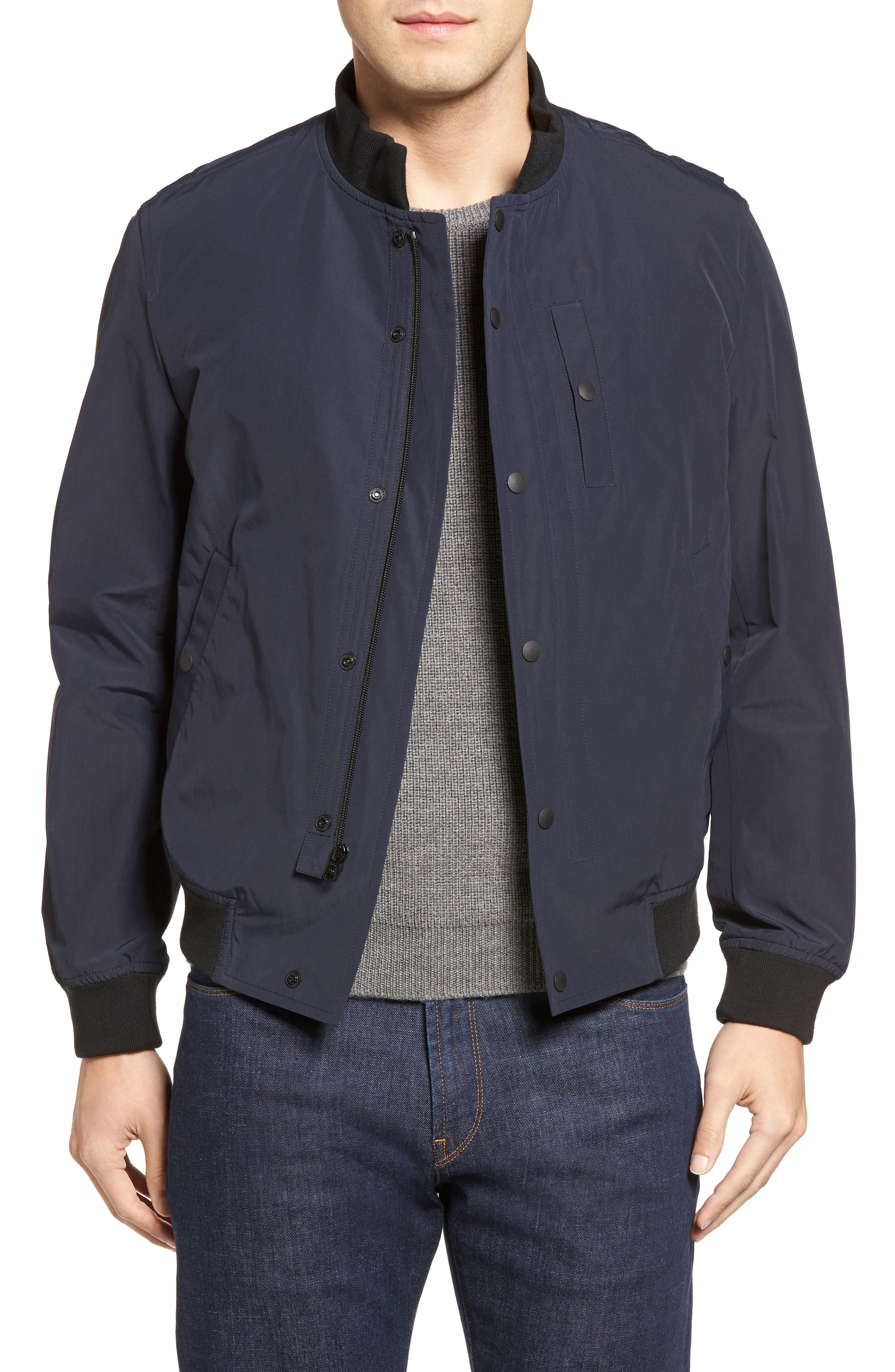 Water Repellent Jacket,                         Main,                         color, Midnight