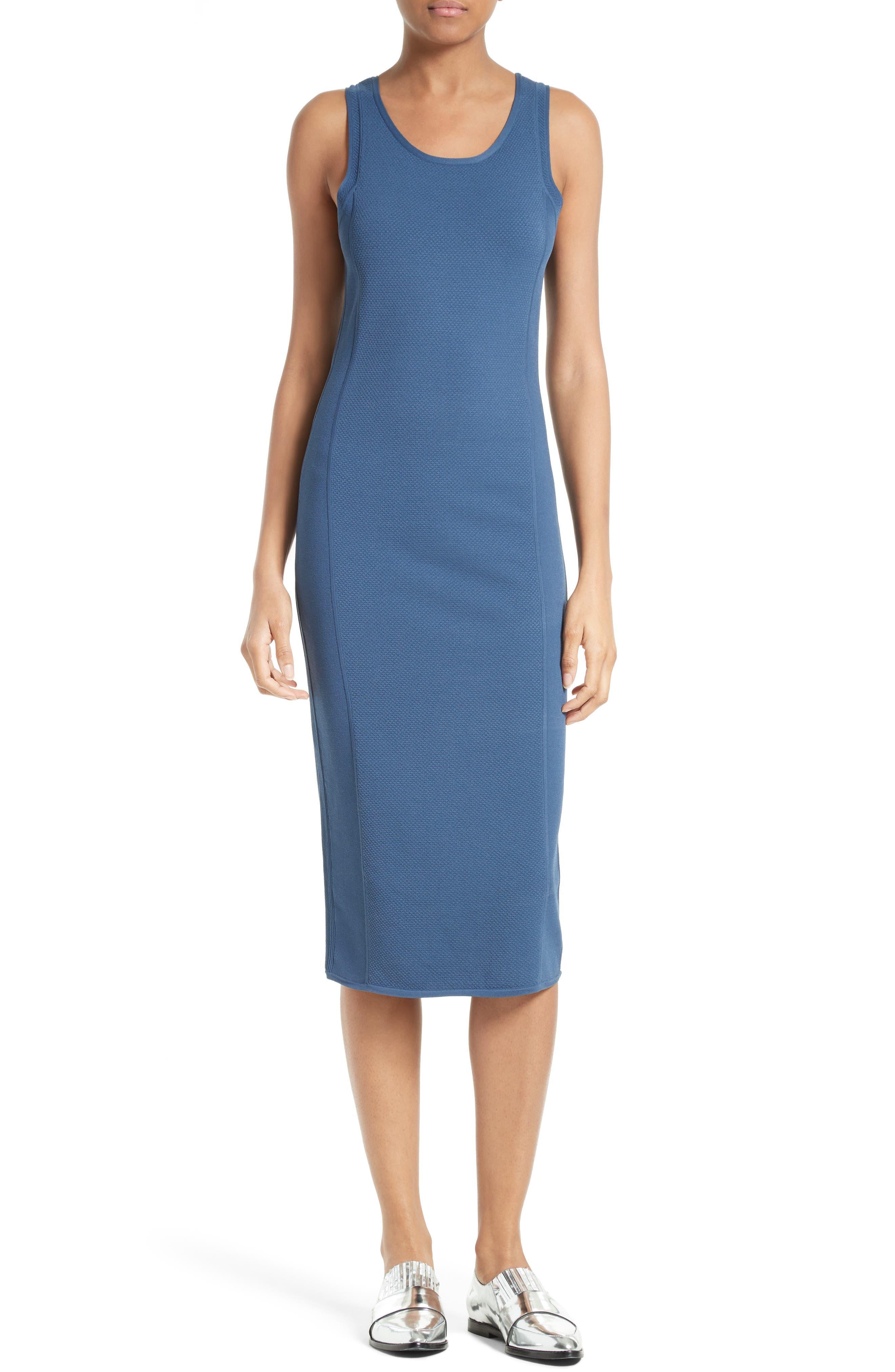 Knit Tank Dress,                         Main,                         color, Indigo