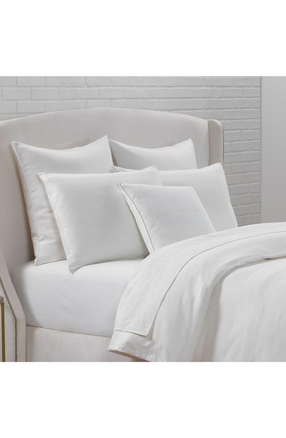 Sloane Square Organic Cotton Dobby Accent Pillow,                             Alternate thumbnail 2, color,                             Cloud
