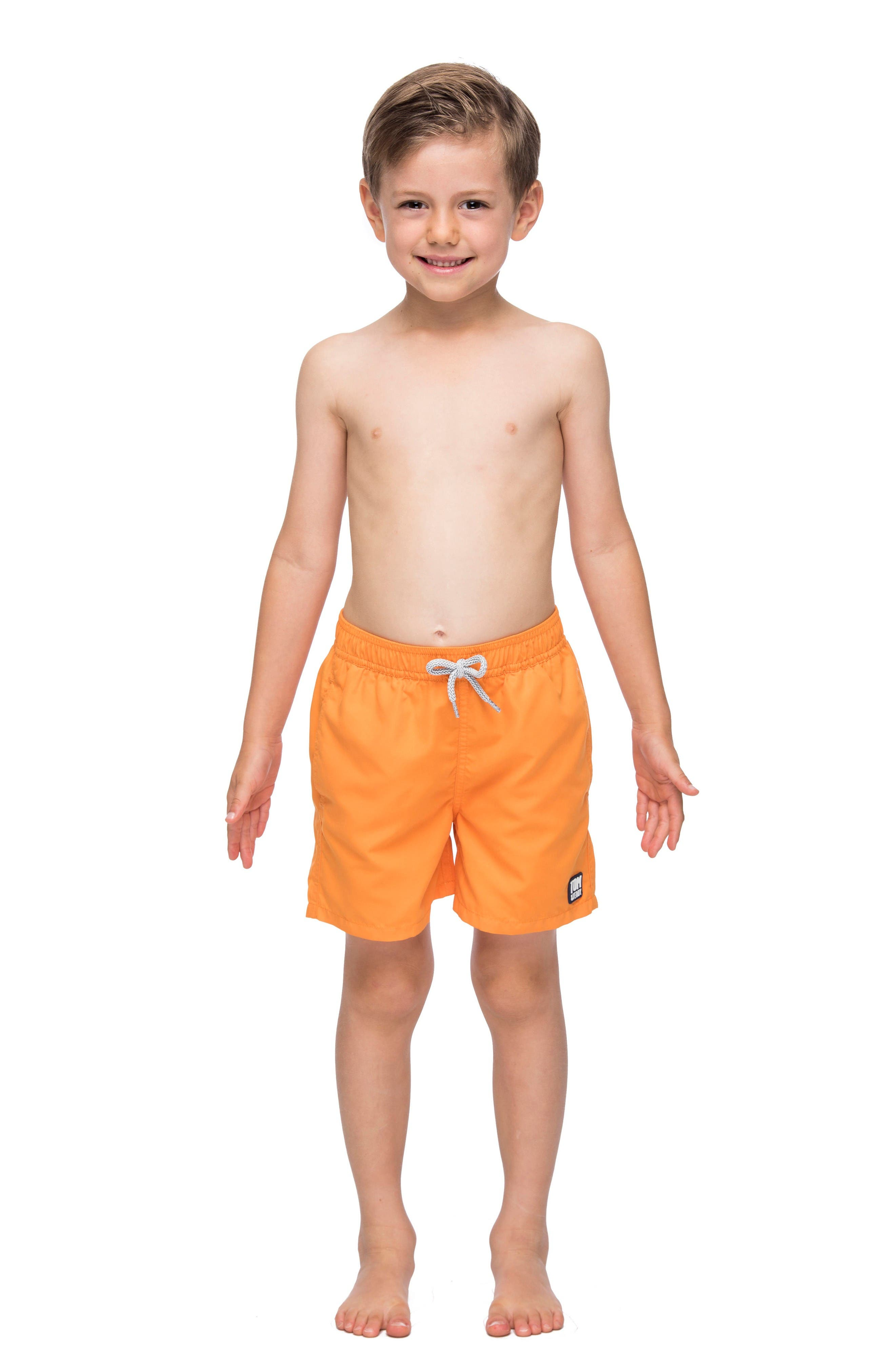 Tom & Teddy Solid Swim Trunks (Toddler Boys, Little Boys & Big Boys)