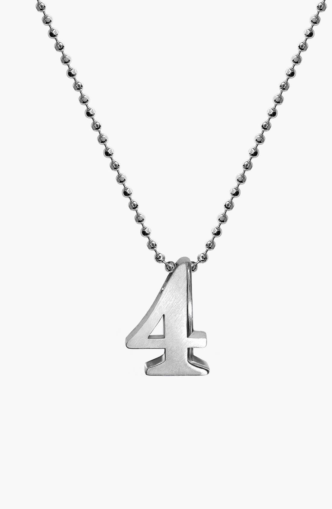 Alternate Image 1 Selected - Alex Woo 'Little Number' Pendant Necklace