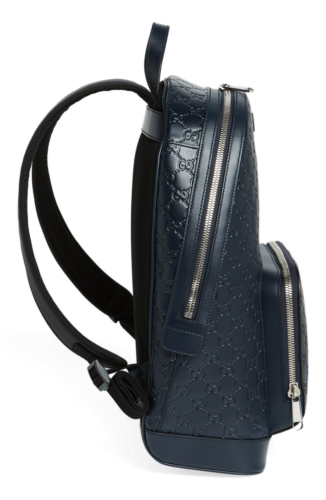 Alternate Image 5  - Gucci Embossed Leather Backpack