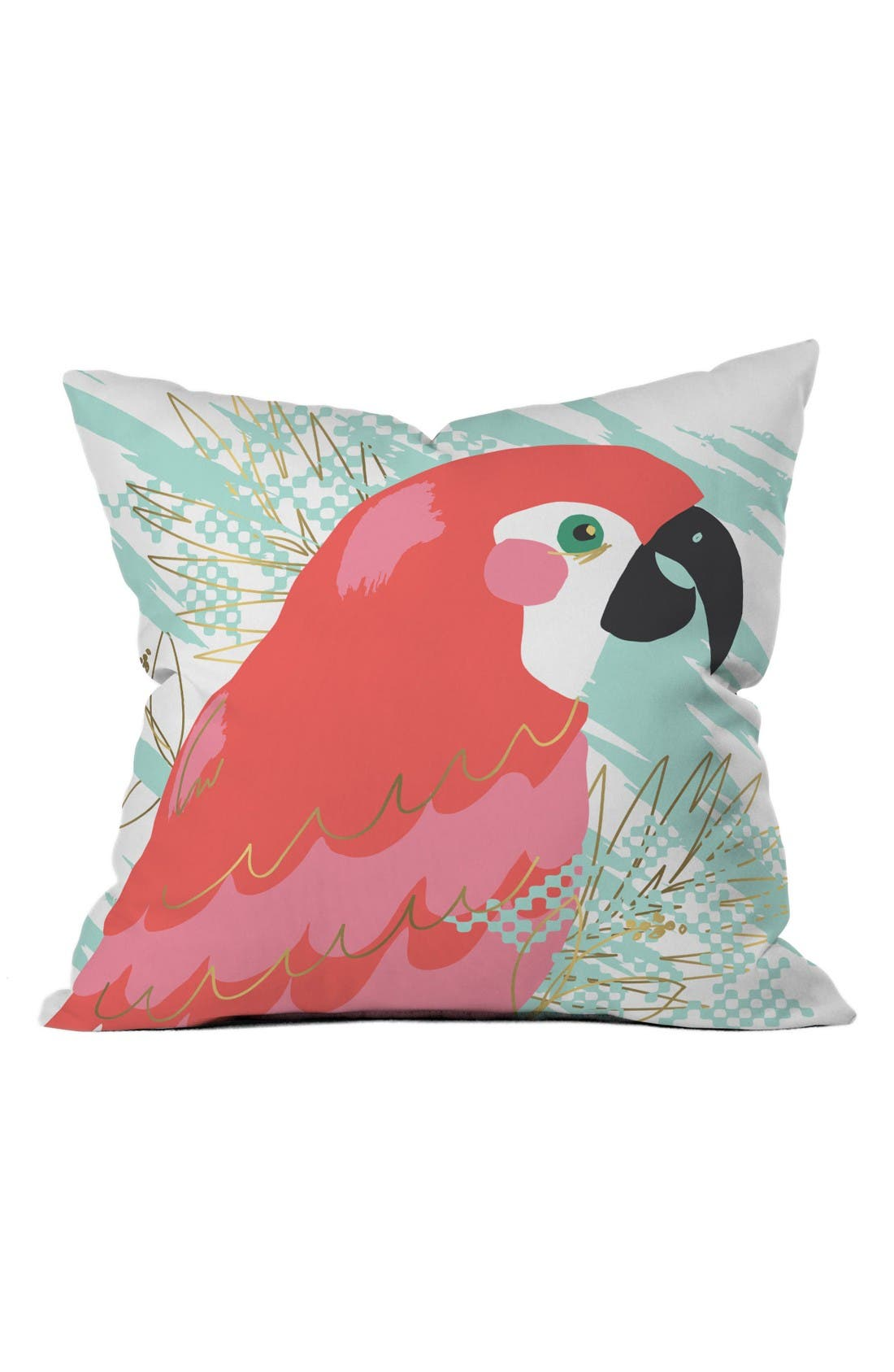 On The Wings Pillow,                             Main thumbnail 1, color,                             Pink/ Teal
