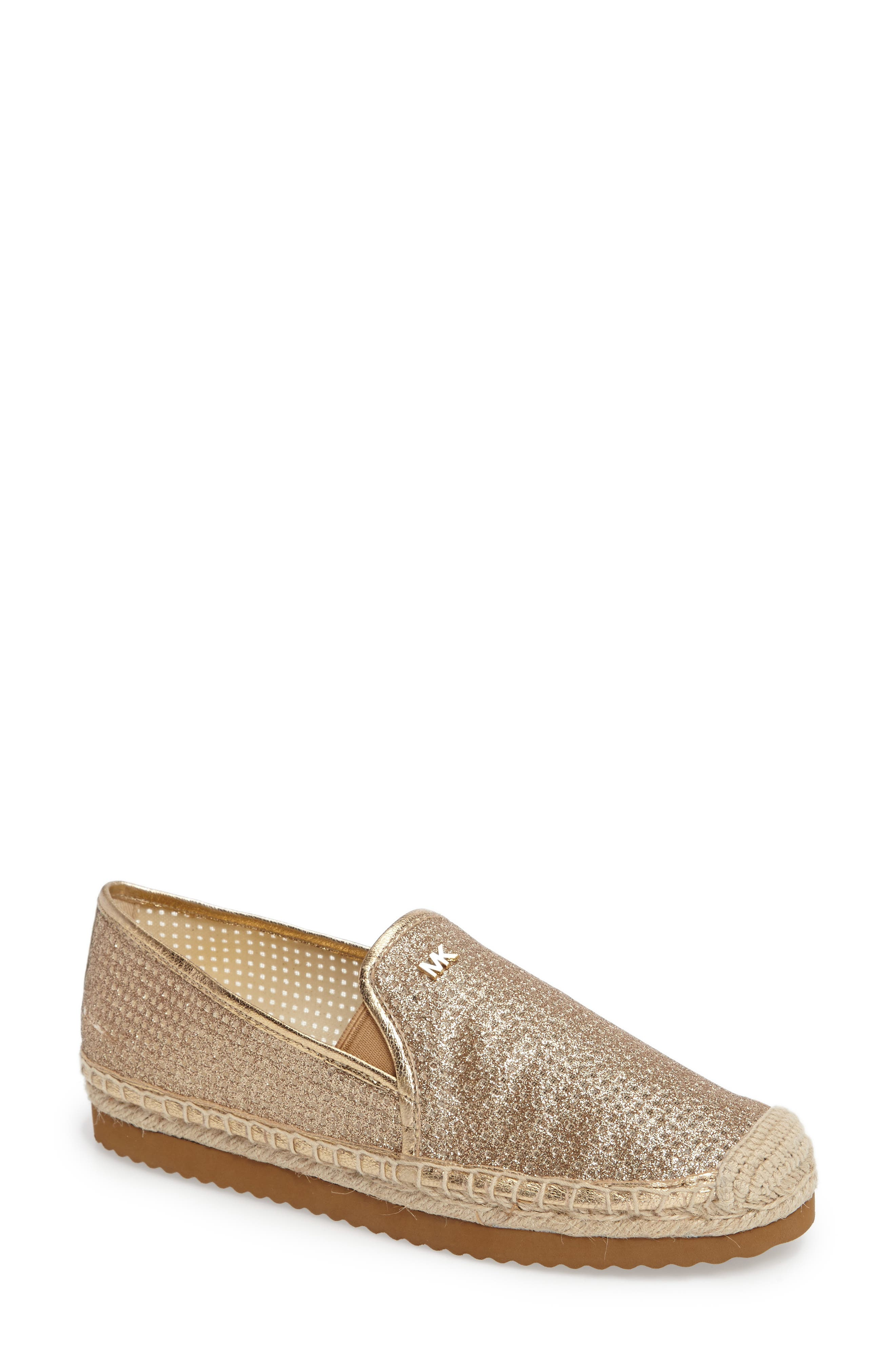 Hastings Espadrille Slip-On,                             Main thumbnail 1, color,                             Pale Gold Leather