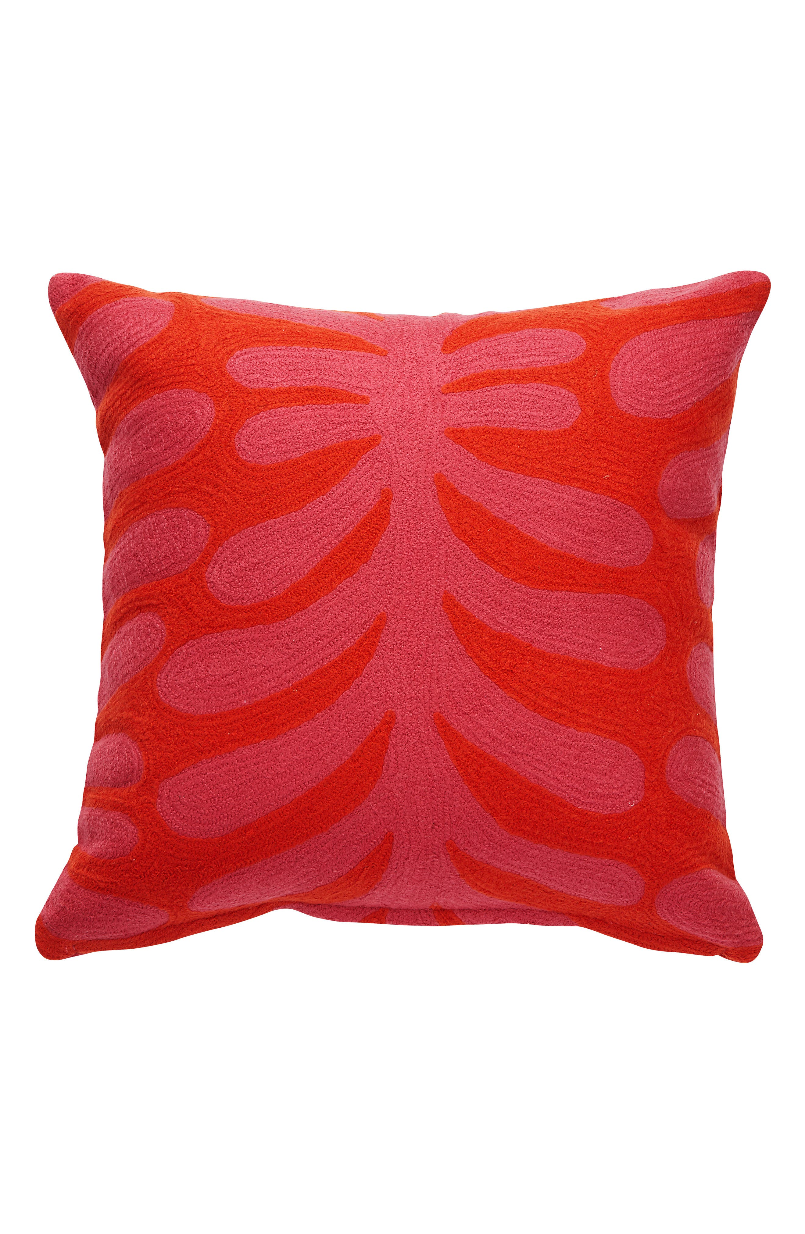 abstract vine accent pillow,                         Main,                         color, Pink