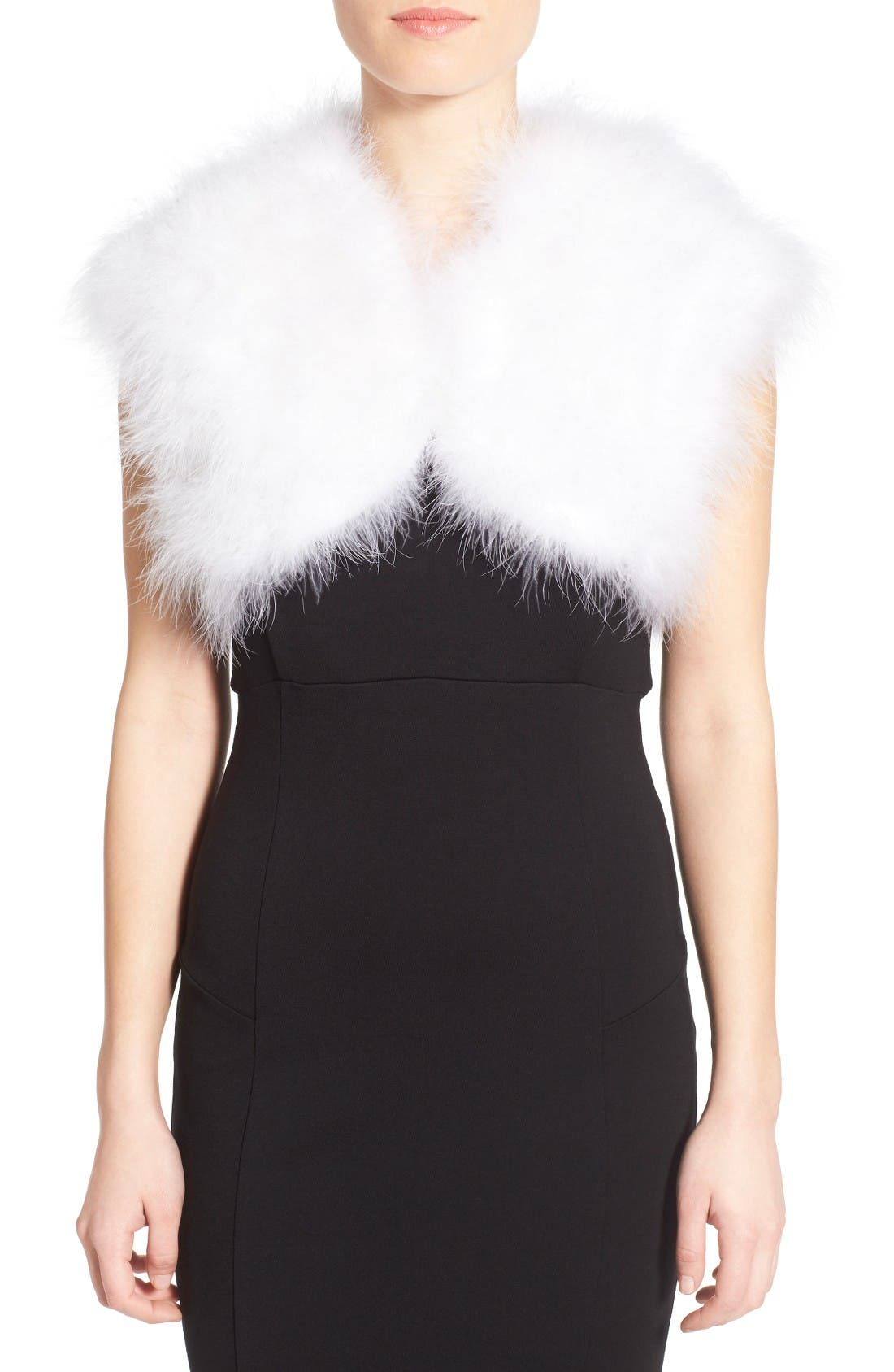 Badgley Mischka Feather Shrug
