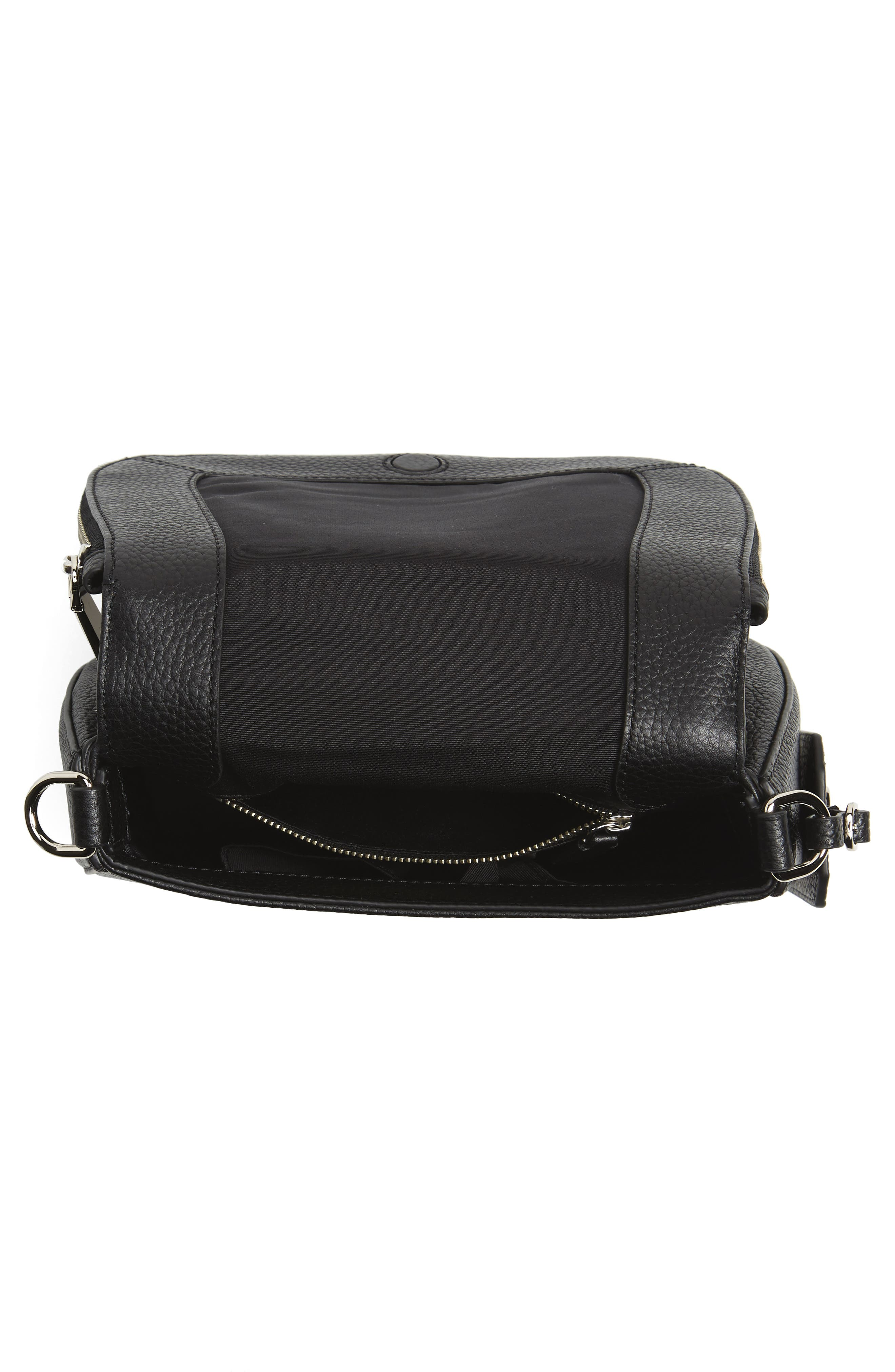 Small Nomad Gotham Leather Crossbody Bag,                             Alternate thumbnail 4, color,                             Black